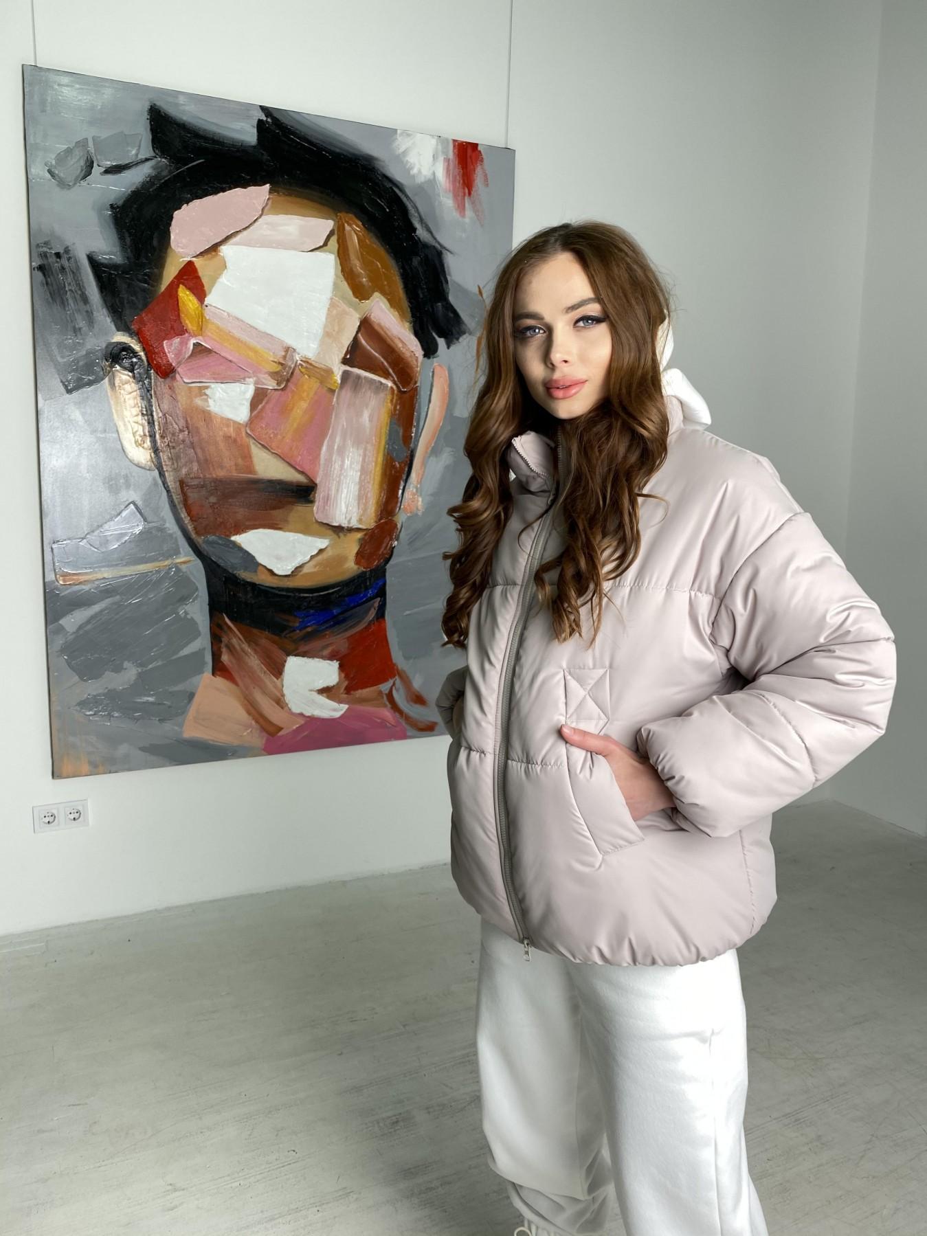 Муд куртка из плащевой ткани 10509 АРТ. 46853 Цвет: Бежевый 511 - фото 5, интернет магазин tm-modus.ru