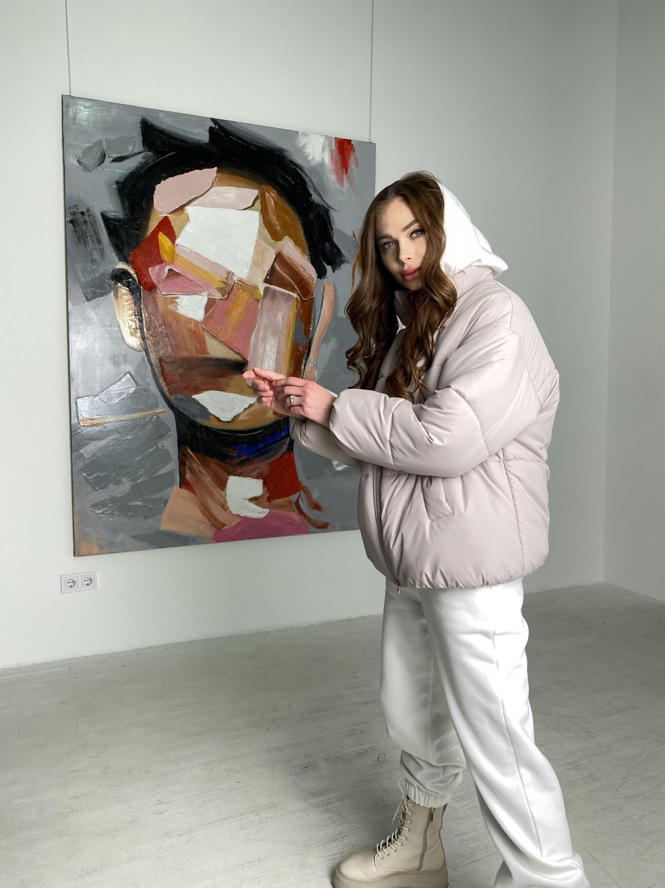 Муд куртка из плащевой ткани 10509 АРТ. 46853 Цвет: Бежевый 511 - фото 6, интернет магазин tm-modus.ru