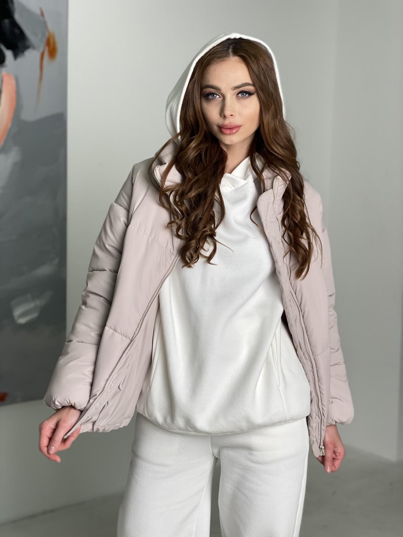 Муд куртка из плащевой ткани 10509 АРТ. 46853 Цвет: Бежевый 511 - фото 7, интернет магазин tm-modus.ru