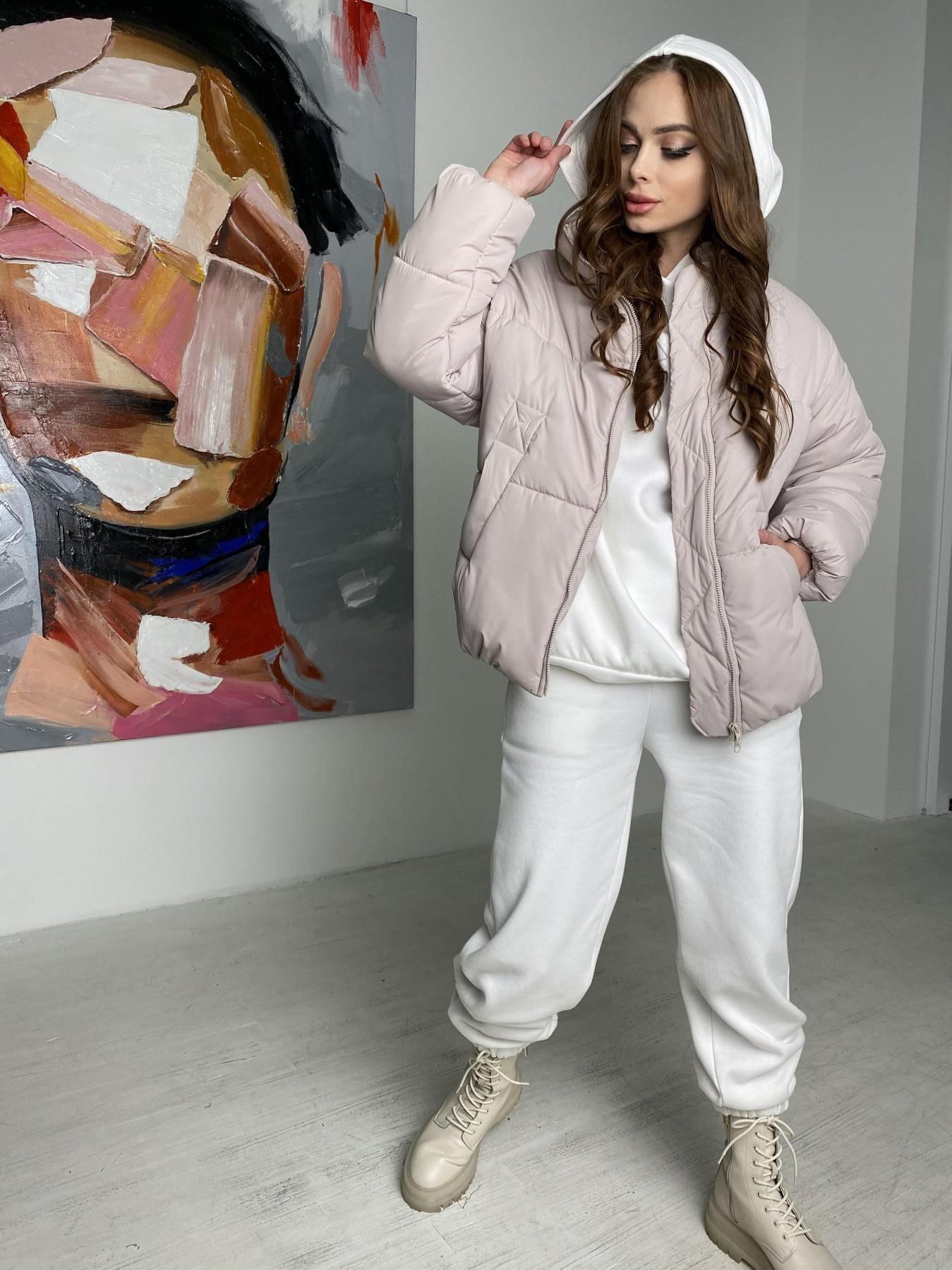 Муд куртка из плащевой ткани 10509 АРТ. 46853 Цвет: Бежевый 511 - фото 8, интернет магазин tm-modus.ru