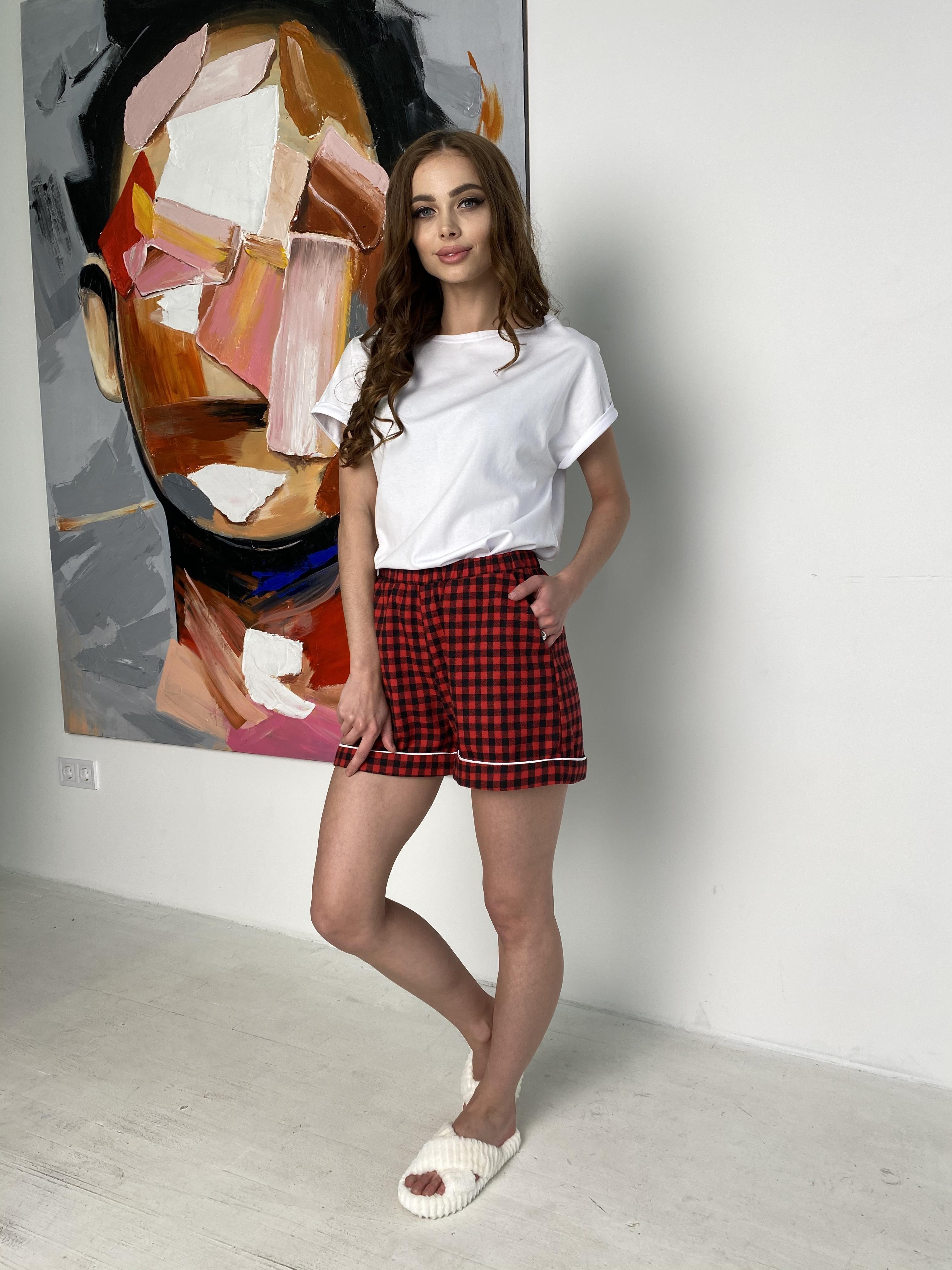 Тедди комплект  (шорты футболка) 10484 АРТ. 46801 Цвет: Красный/т.синий - фото 1, интернет магазин tm-modus.ru