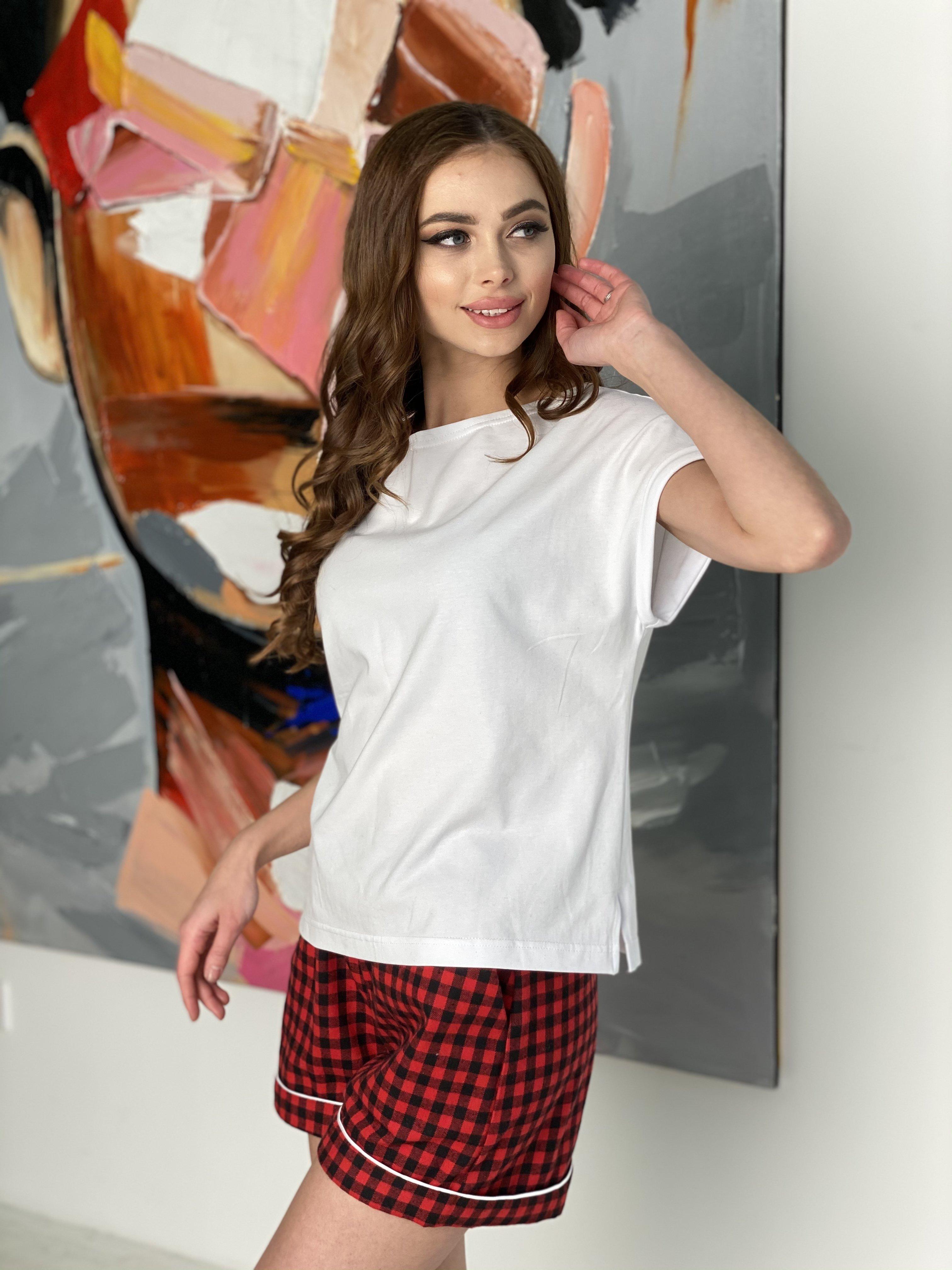 Тедди комплект  (шорты футболка) 10484 АРТ. 46801 Цвет: Красный/т.синий - фото 5, интернет магазин tm-modus.ru