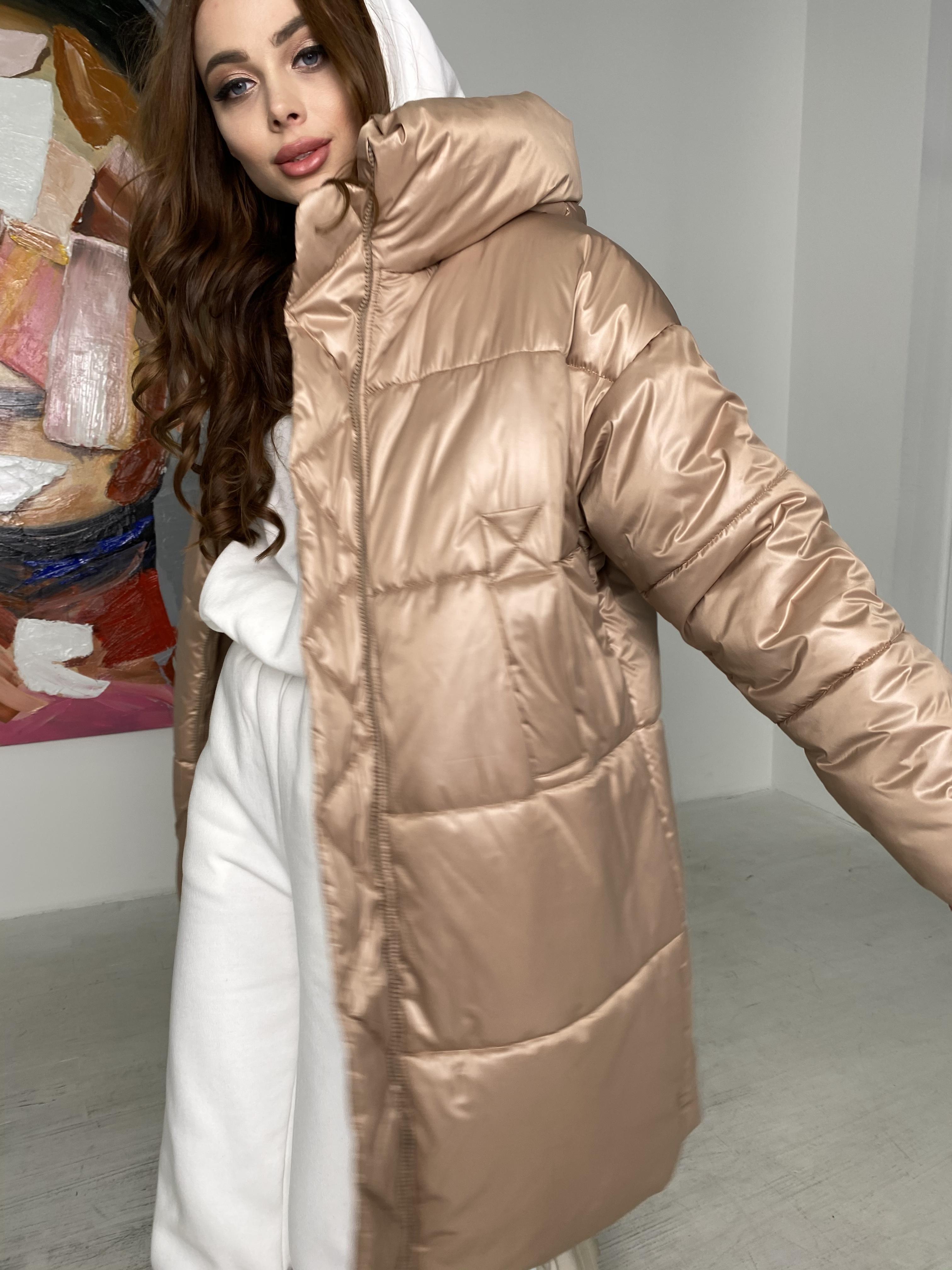 Френд пуховик из матовой плащевой ткани  10105 АРТ. 46697 Цвет: Кемел - фото 4, интернет магазин tm-modus.ru