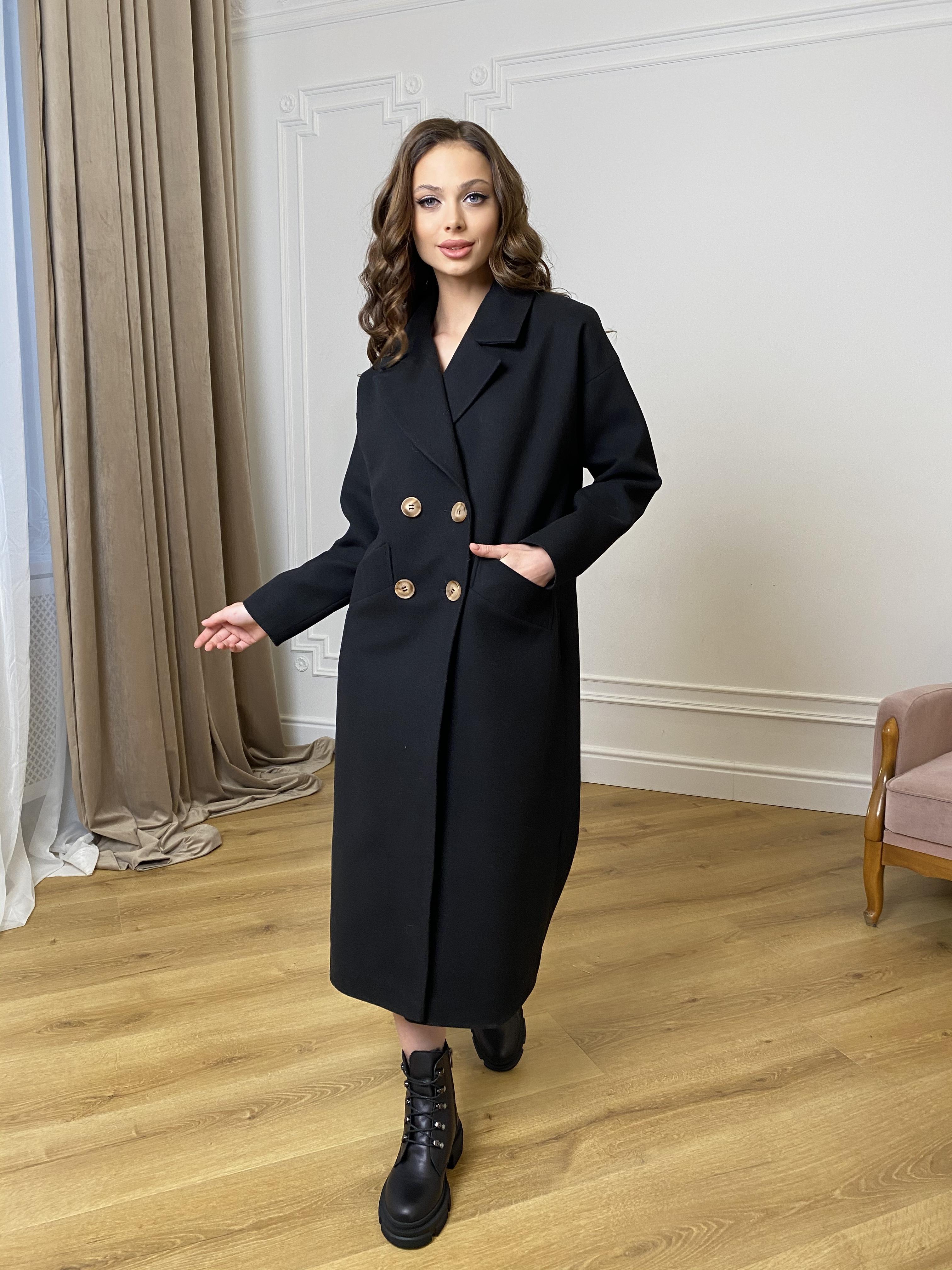Женские демисезонные пальто больших размеров Сенсей пальто макси из кашемира   10309