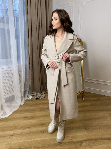 """Купить """"Вейсона макси"""" пальто с хомутом из кашемира 10193 оптом и в розницу"""