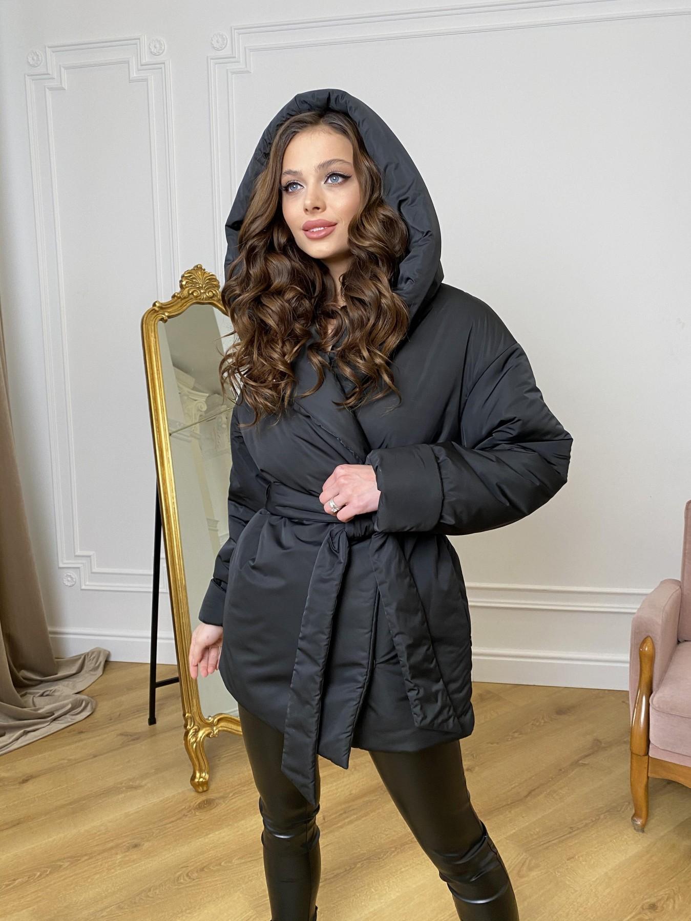 купить куртки женские Нью Йорк  пуховик из плащевой ткани  10529