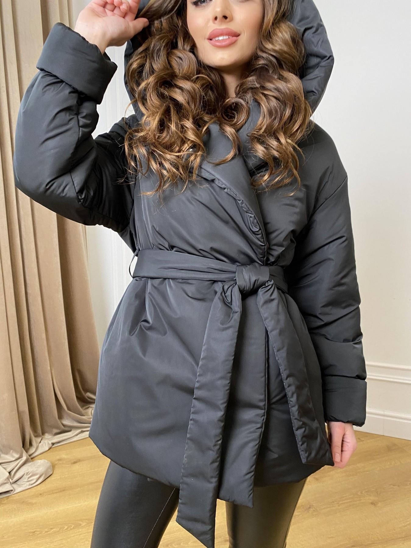 Нью Йорк  пуховик из плащевой ткани  10529 АРТ. 46876 Цвет: Черный - фото 9, интернет магазин tm-modus.ru
