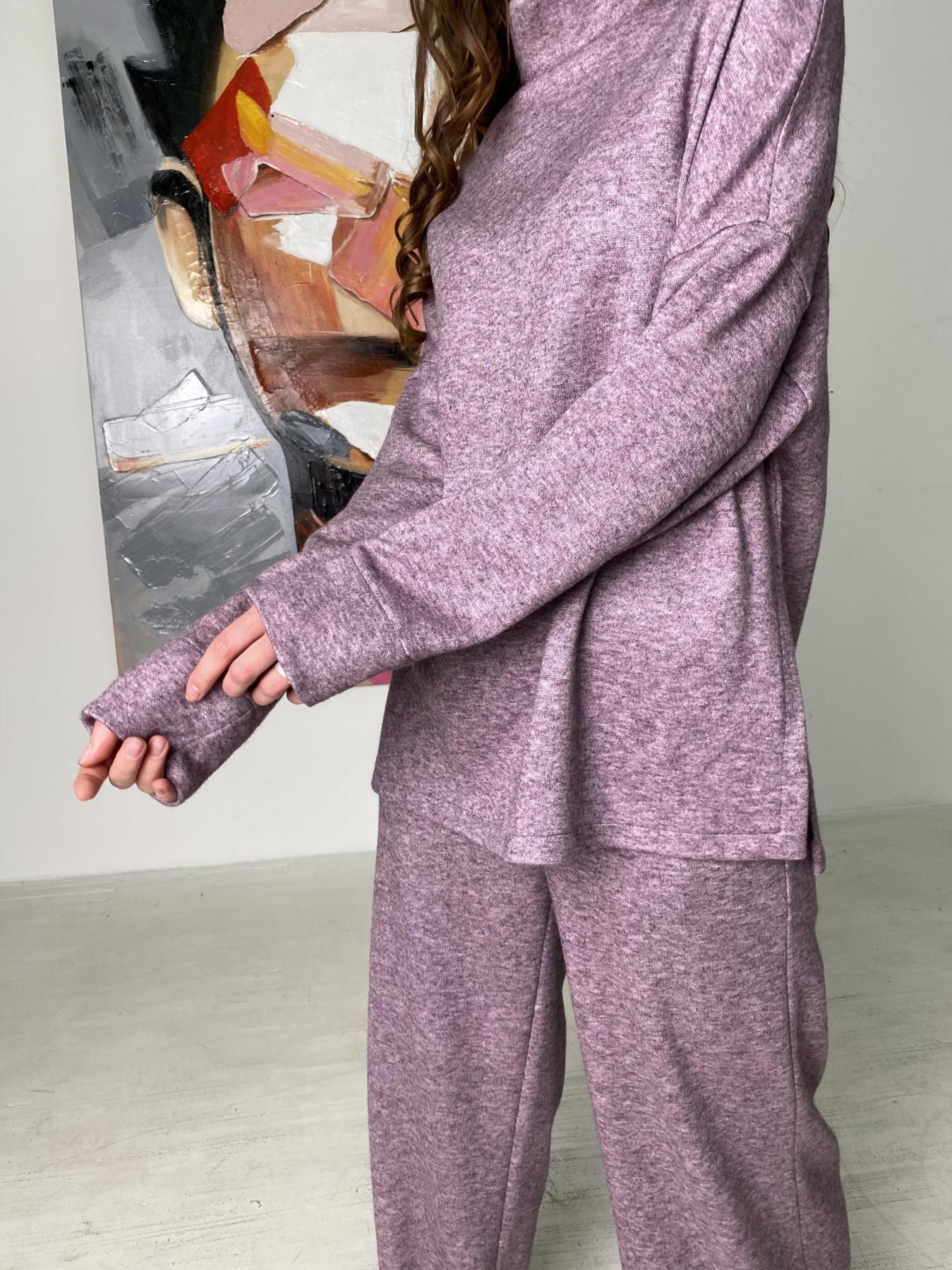 Лав Ю костюм из ангоры 10531 АРТ. 46874 Цвет: Сирень Темная Меланж - фото 4, интернет магазин tm-modus.ru