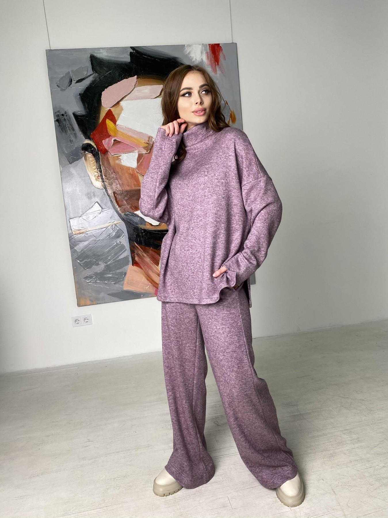 Лав Ю костюм из ангоры 10531 АРТ. 46874 Цвет: Сирень Темная Меланж - фото 5, интернет магазин tm-modus.ru