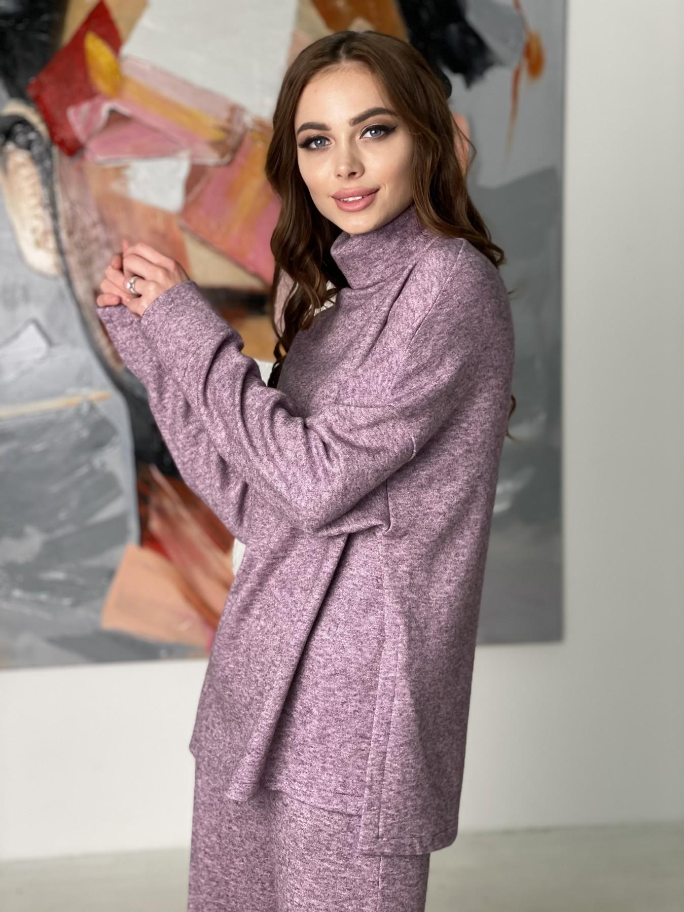 Лав Ю костюм из ангоры 10531 АРТ. 46874 Цвет: Сирень Темная Меланж - фото 10, интернет магазин tm-modus.ru