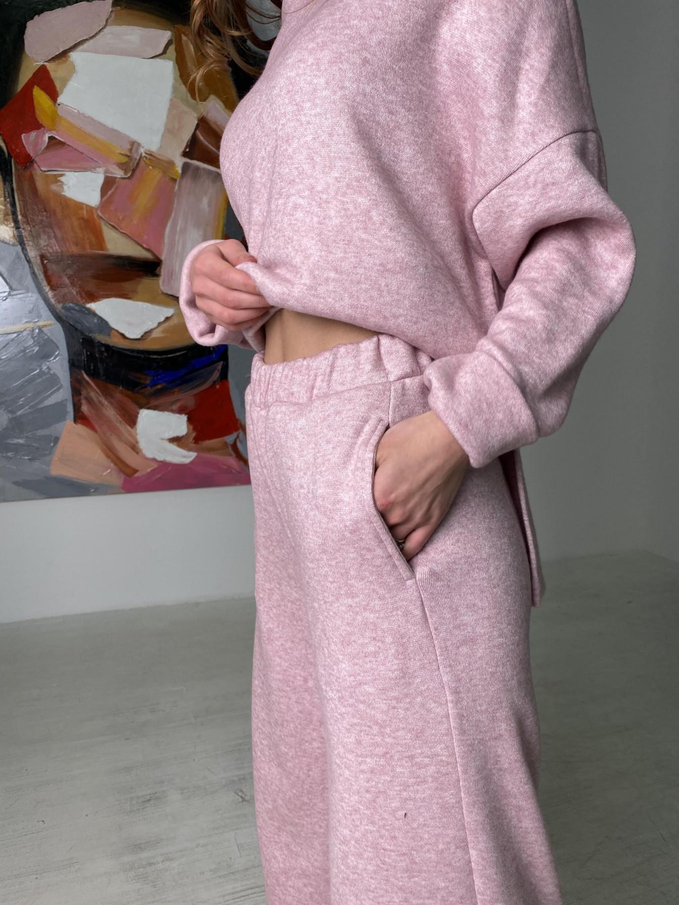 Лав Ю костюм из ангоры 10531 АРТ. 46872 Цвет: Розовый 2 меланж - фото 3, интернет магазин tm-modus.ru