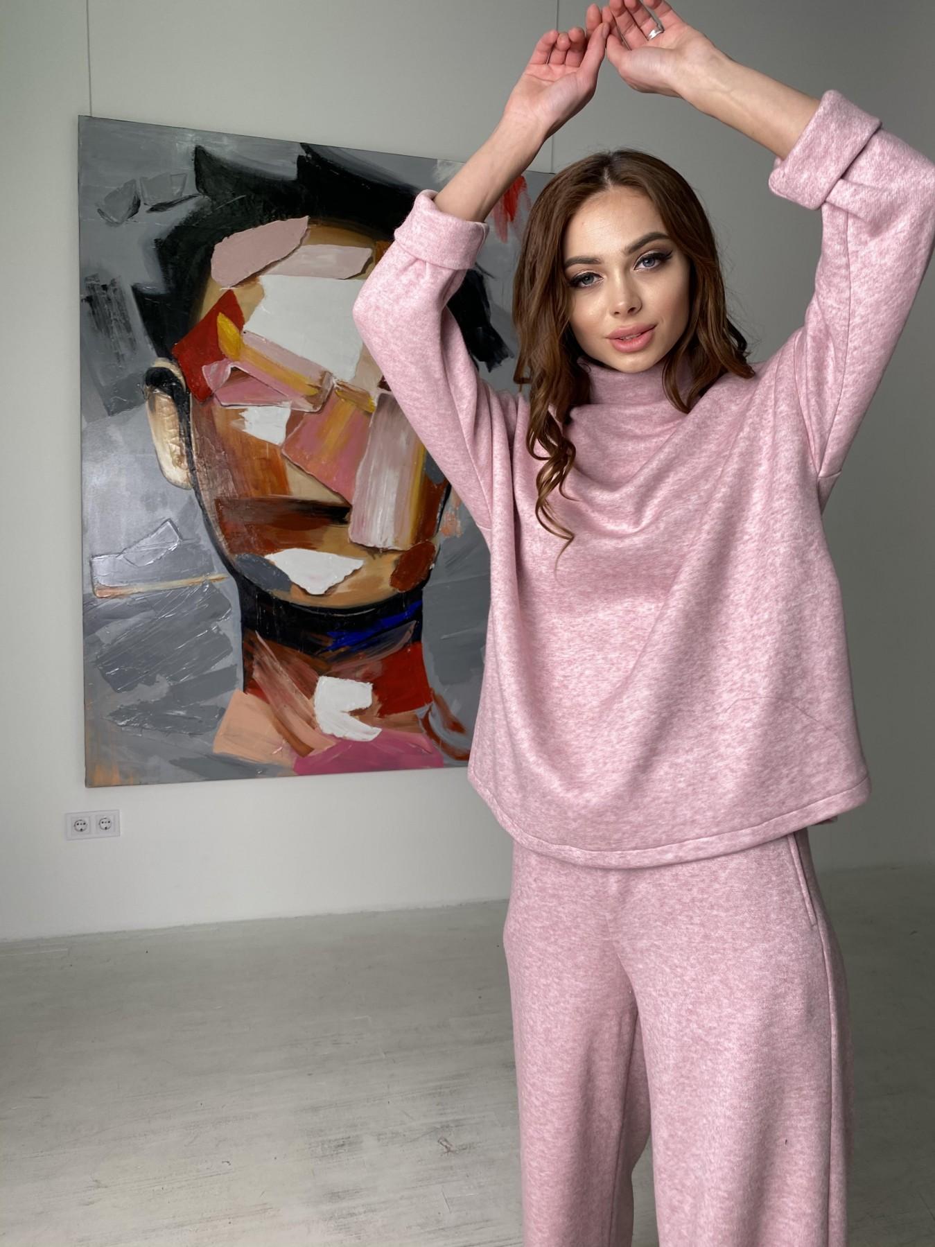 Лав Ю костюм из ангоры 10531 АРТ. 46872 Цвет: Розовый 2 меланж - фото 4, интернет магазин tm-modus.ru