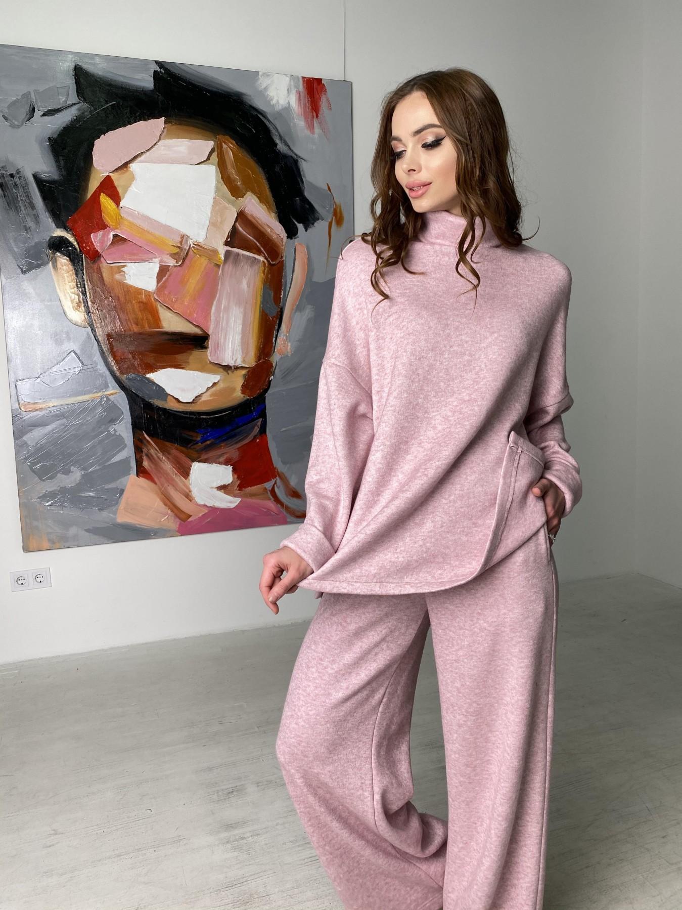 Лав Ю костюм из ангоры 10531 АРТ. 46872 Цвет: Розовый 2 меланж - фото 5, интернет магазин tm-modus.ru