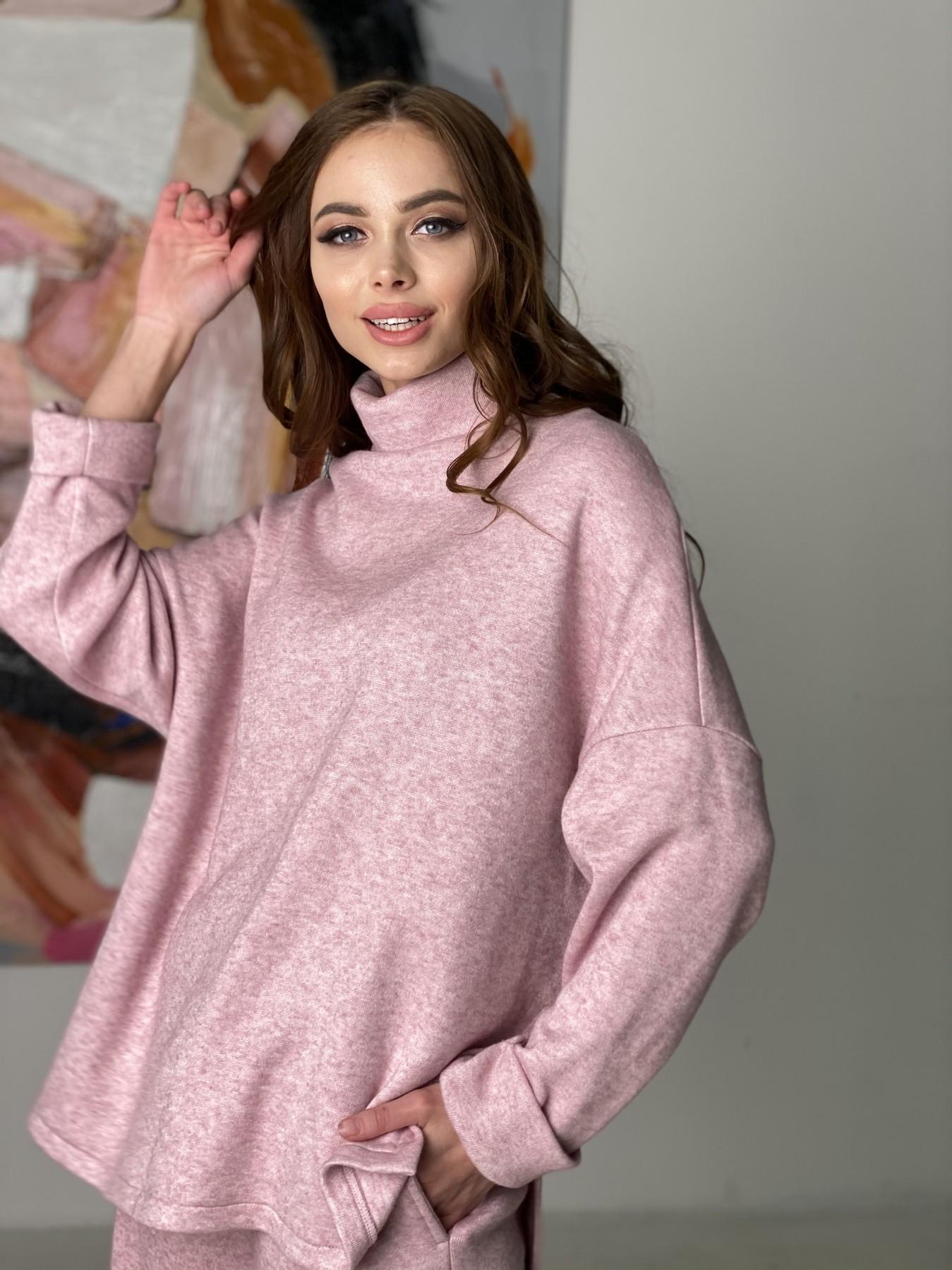 Лав Ю костюм из ангоры 10531 АРТ. 46872 Цвет: Розовый 2 меланж - фото 9, интернет магазин tm-modus.ru