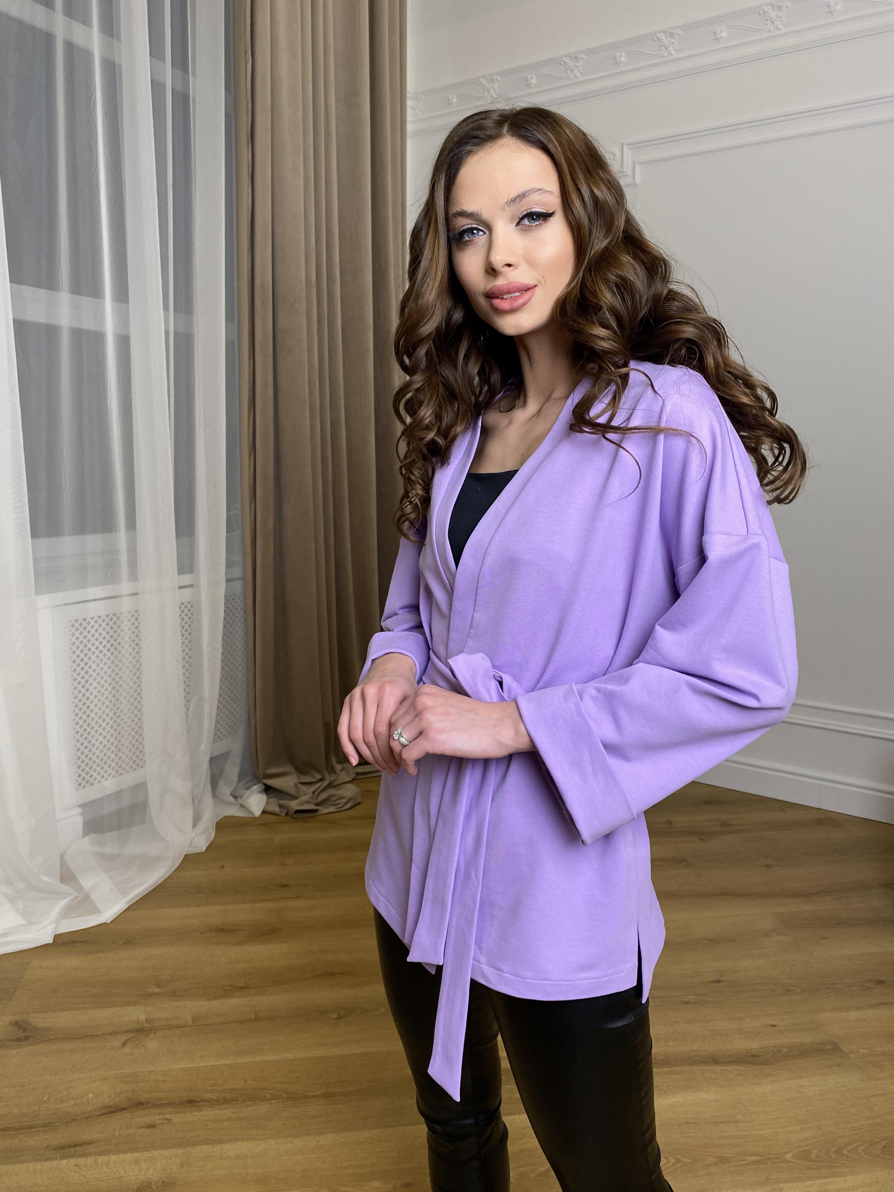 Жакет Лаванда 9665 АРТ. 45975 Цвет: лаванда - фото 4, интернет магазин tm-modus.ru