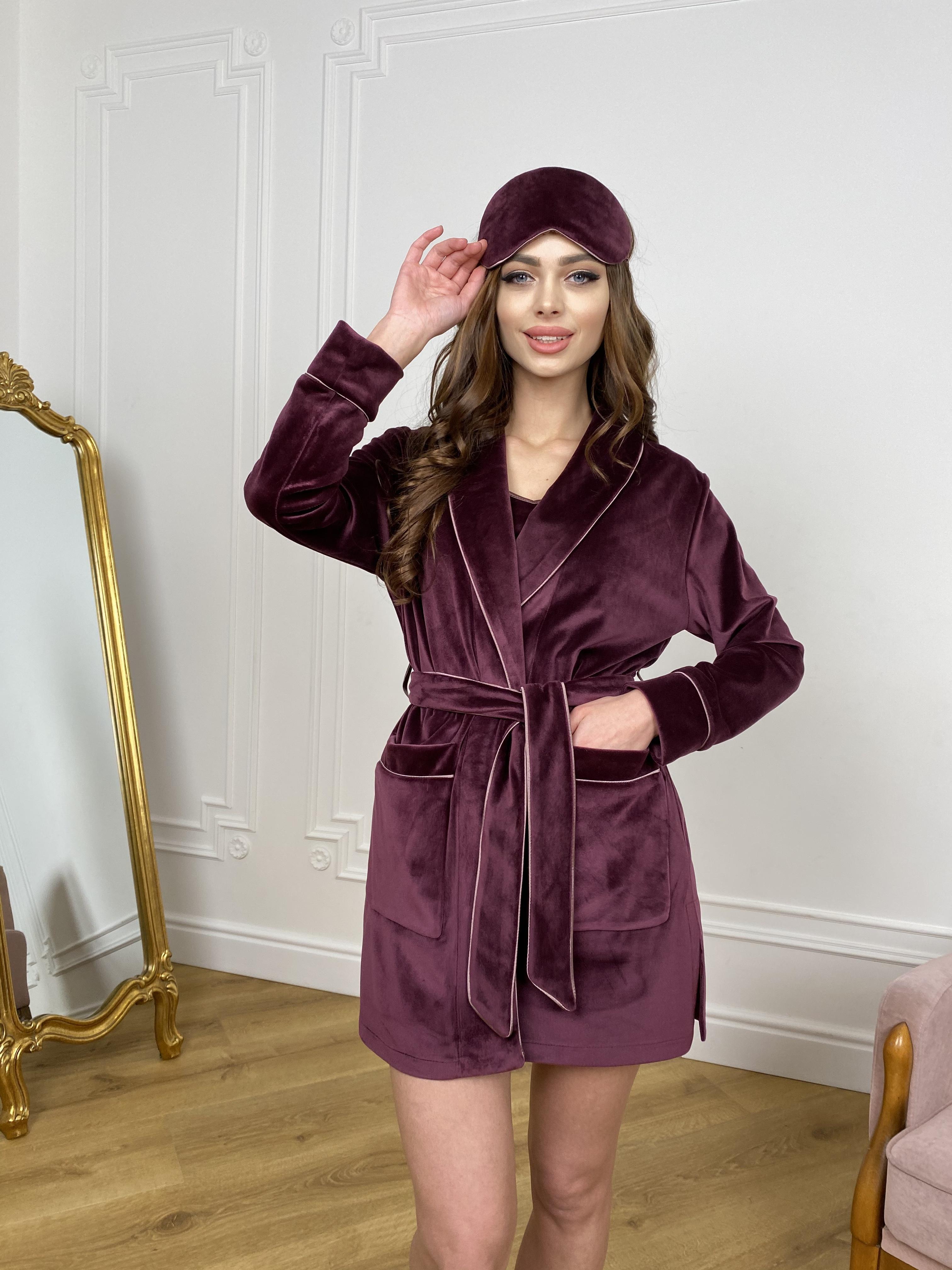 Женская одежда оптом от производителя Сандрин халат  велюр   атлас 10466