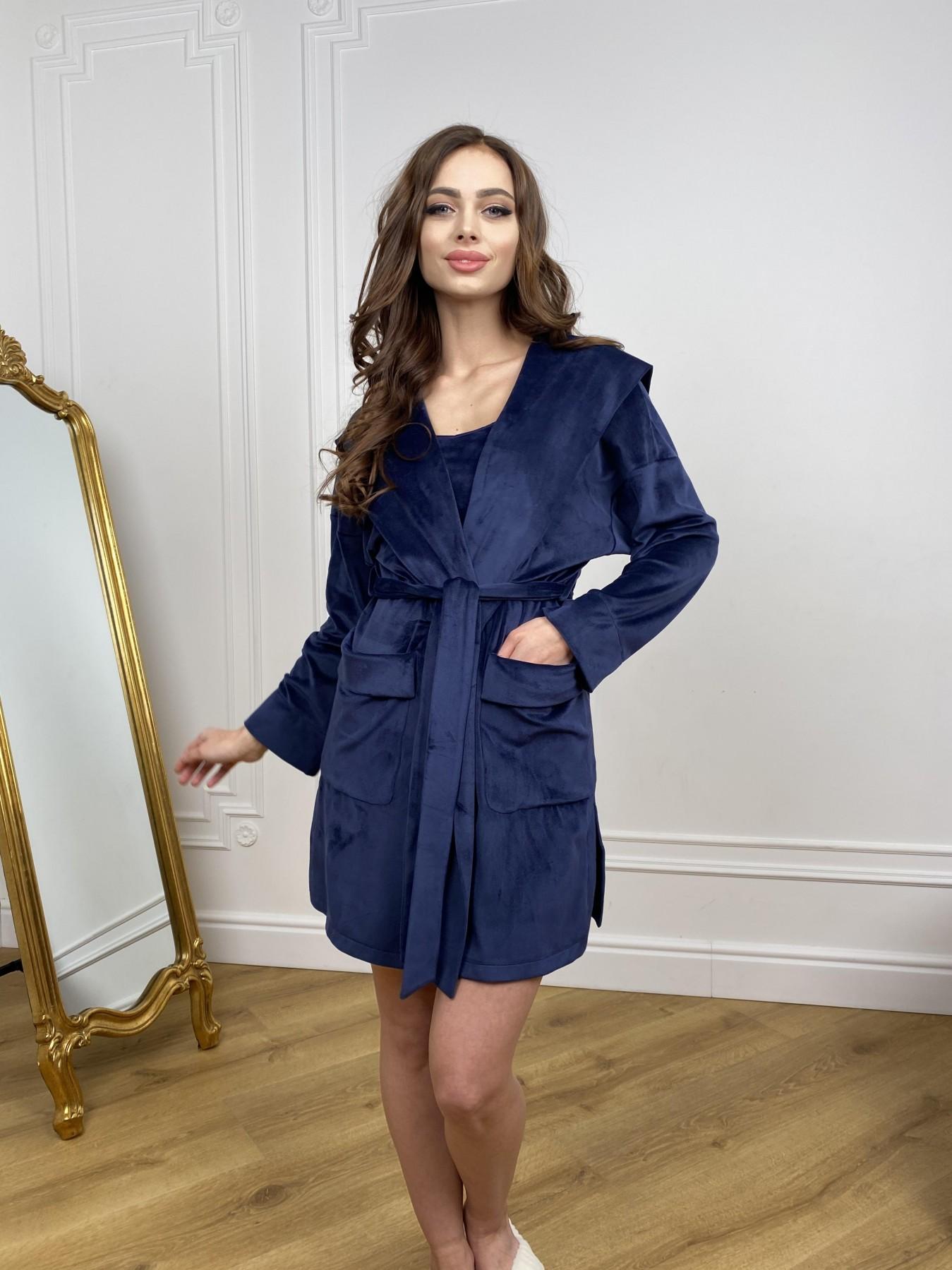 Женские костюмы оптом от производителя Modus Фабьен халат из  велюровой ткани  10483