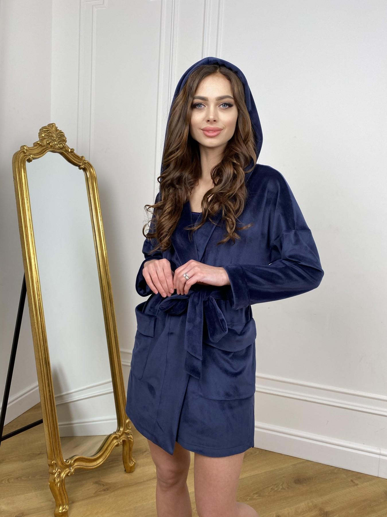 Фабьен мини халат из велюровой ткани 10516