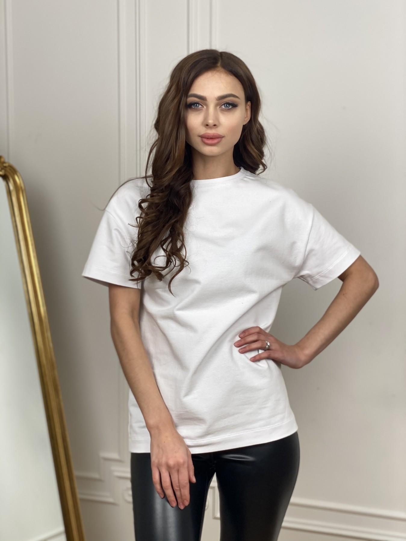 Скипер футболка трикотажная из двунитки  10593 АРТ. 46941 Цвет: Белый - фото 1, интернет магазин tm-modus.ru