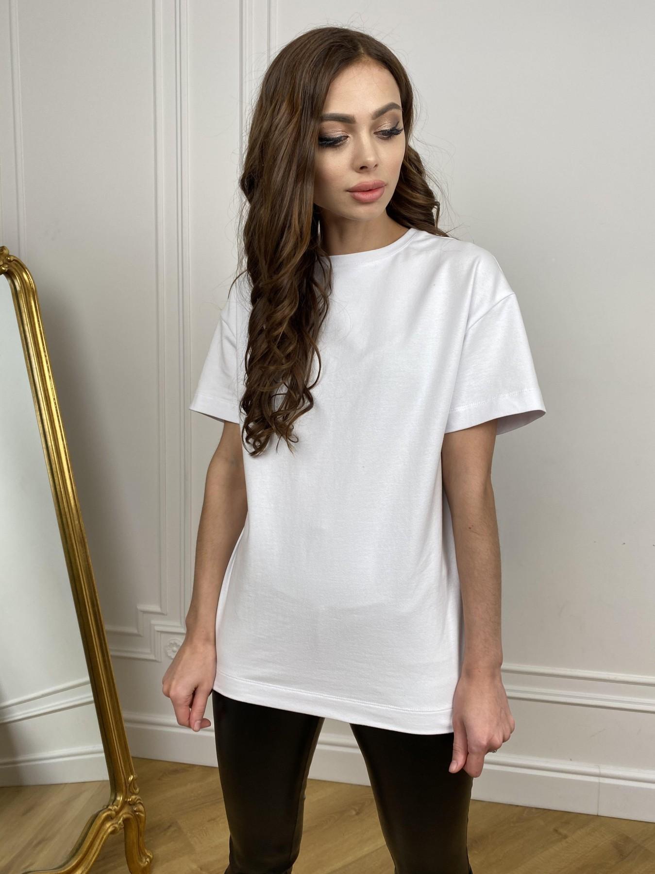 Скипер футболка трикотажная из двунитки  10593 АРТ. 46941 Цвет: Белый - фото 2, интернет магазин tm-modus.ru