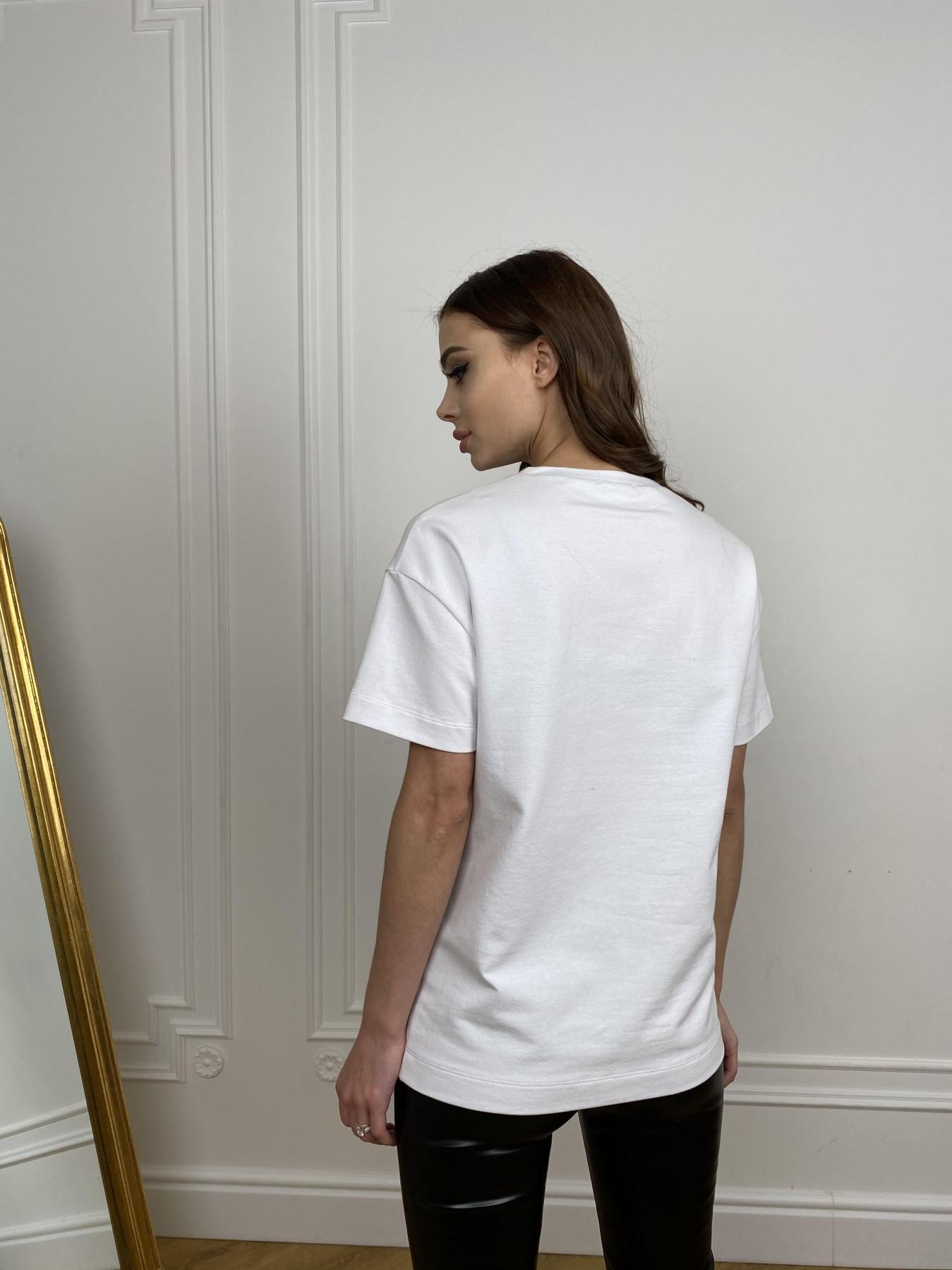 Скипер футболка трикотажная из двунитки  10593 АРТ. 46941 Цвет: Белый - фото 4, интернет магазин tm-modus.ru