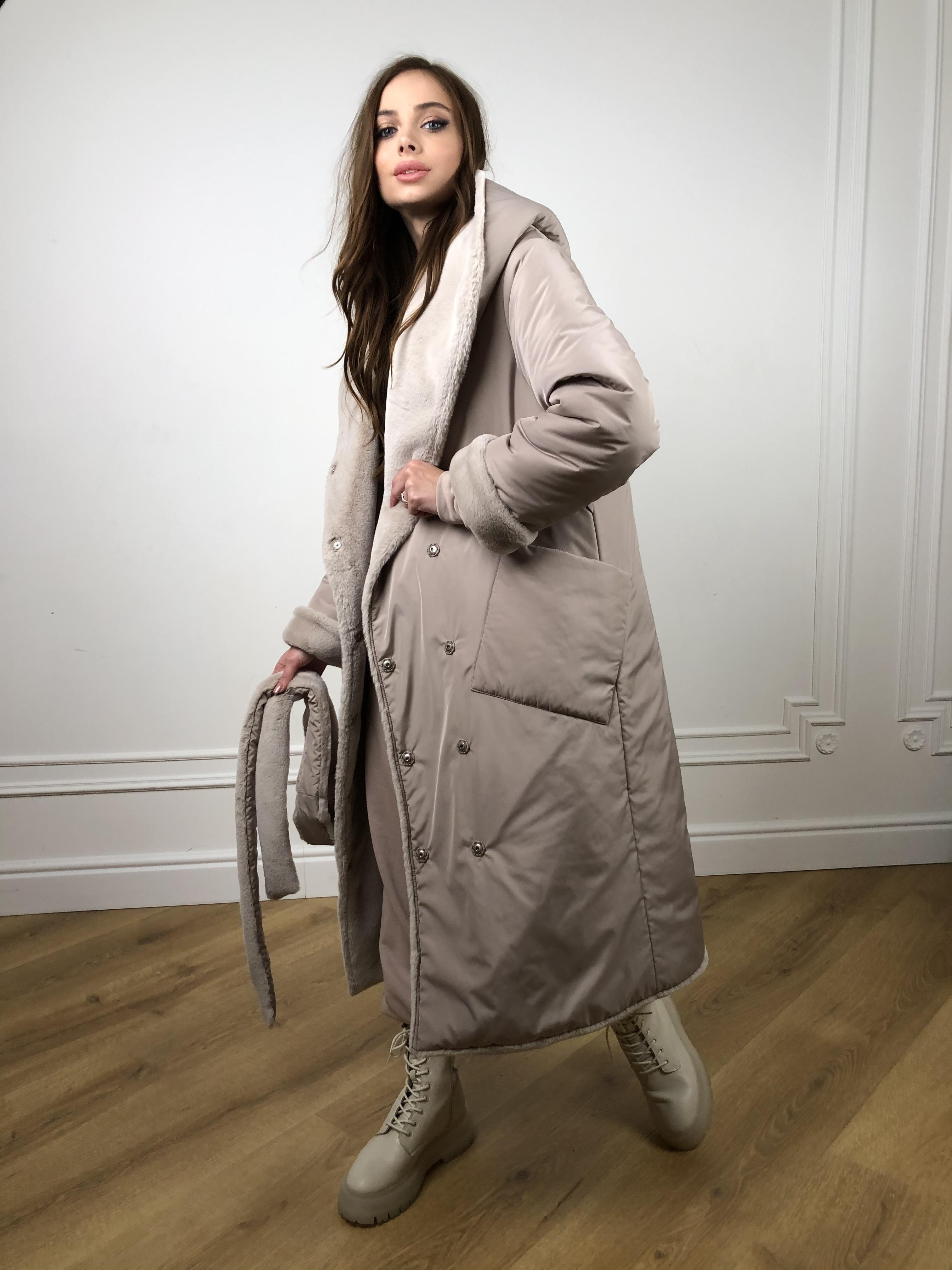 Зимнее пальто интернет магазин Сноу мех искуственный кролик   плащевка Канада зима пальто 10346