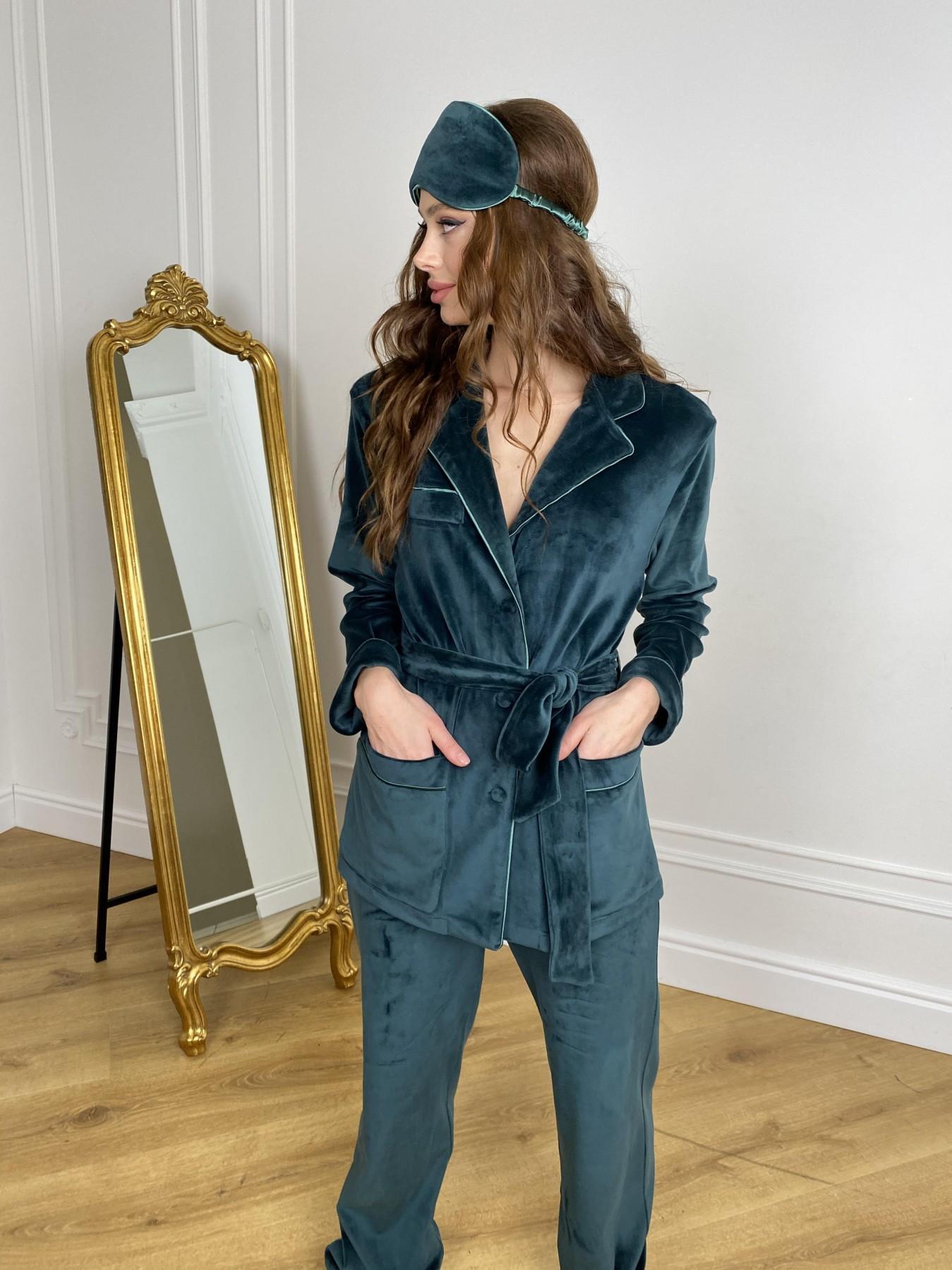 Женская одежда от производителя Modus Шайн пижама велюр жакет брюки маска для сна 10353