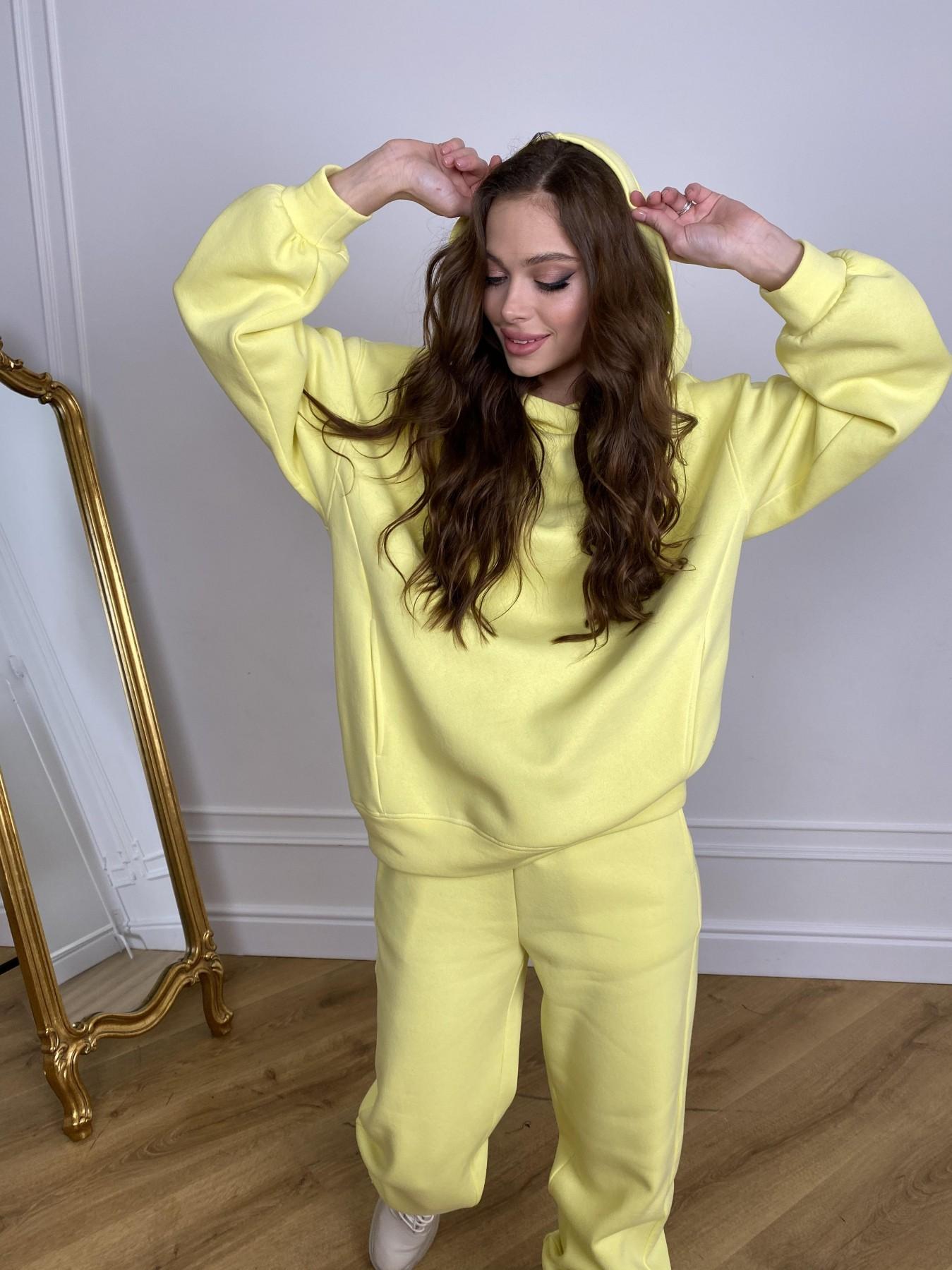 Марион костюм в  стиле Oversize  3х нитка 9651 АРТ. 46905 Цвет: Лимон - фото 3, интернет магазин tm-modus.ru