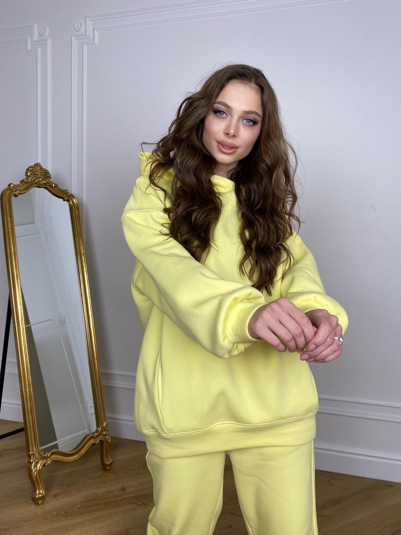 Марион костюм в  стиле Oversize  3х нитка 9651 АРТ. 46905 Цвет: Лимон - фото 4, интернет магазин tm-modus.ru
