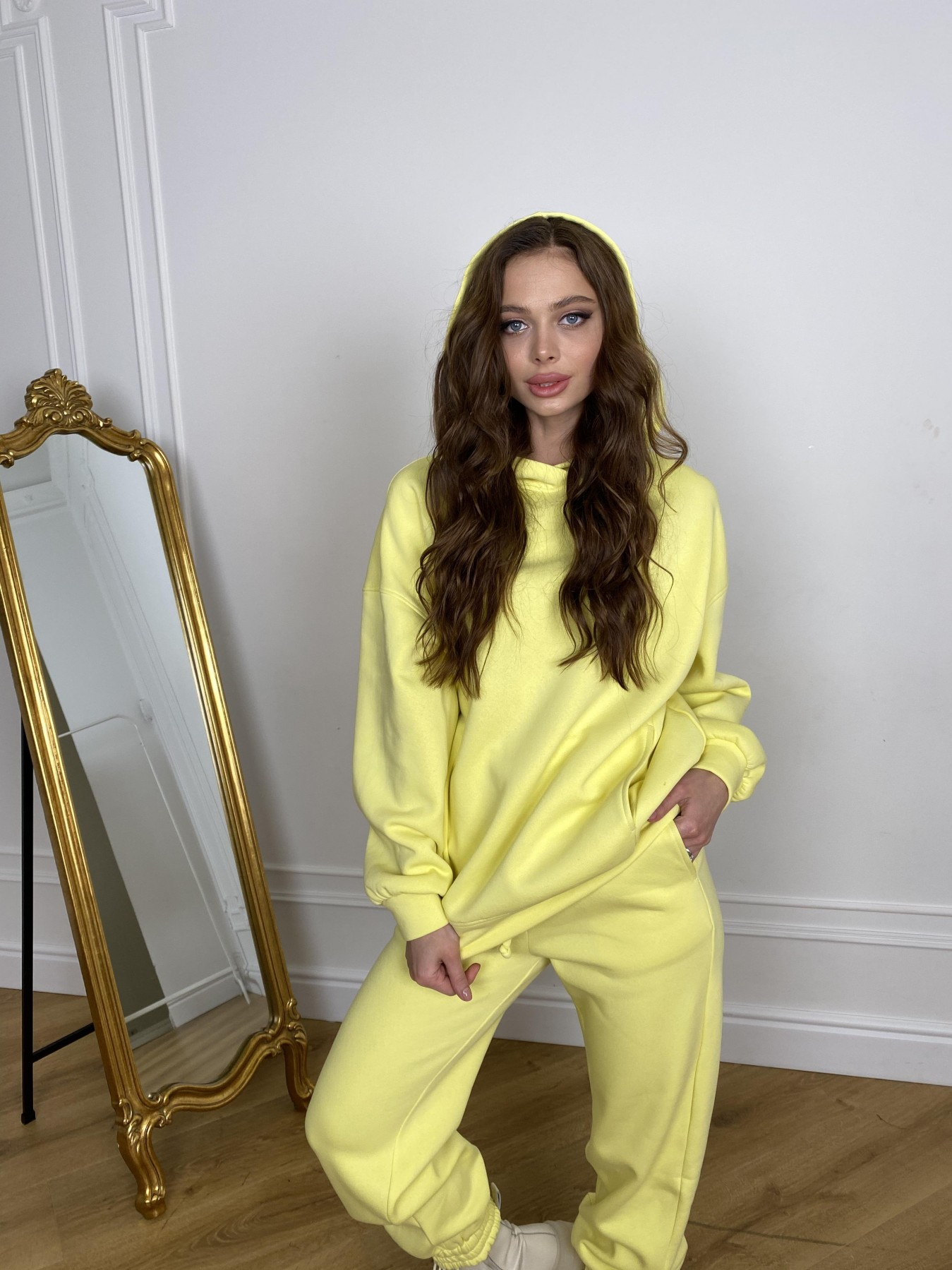 Марион костюм в  стиле Oversize  3х нитка 9651 АРТ. 46905 Цвет: Лимон - фото 8, интернет магазин tm-modus.ru