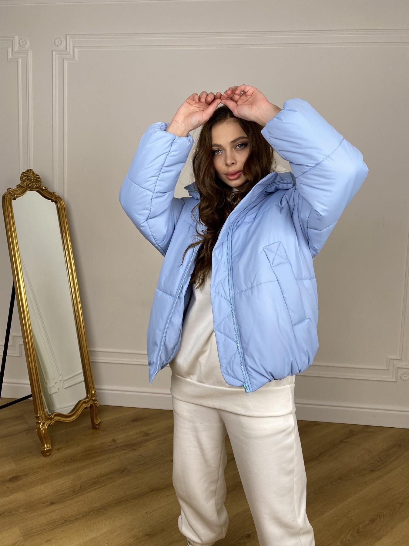 Муд куртка из плащевой ткани 10509 АРТ. 46916 Цвет: Голубой - фото 2, интернет магазин tm-modus.ru