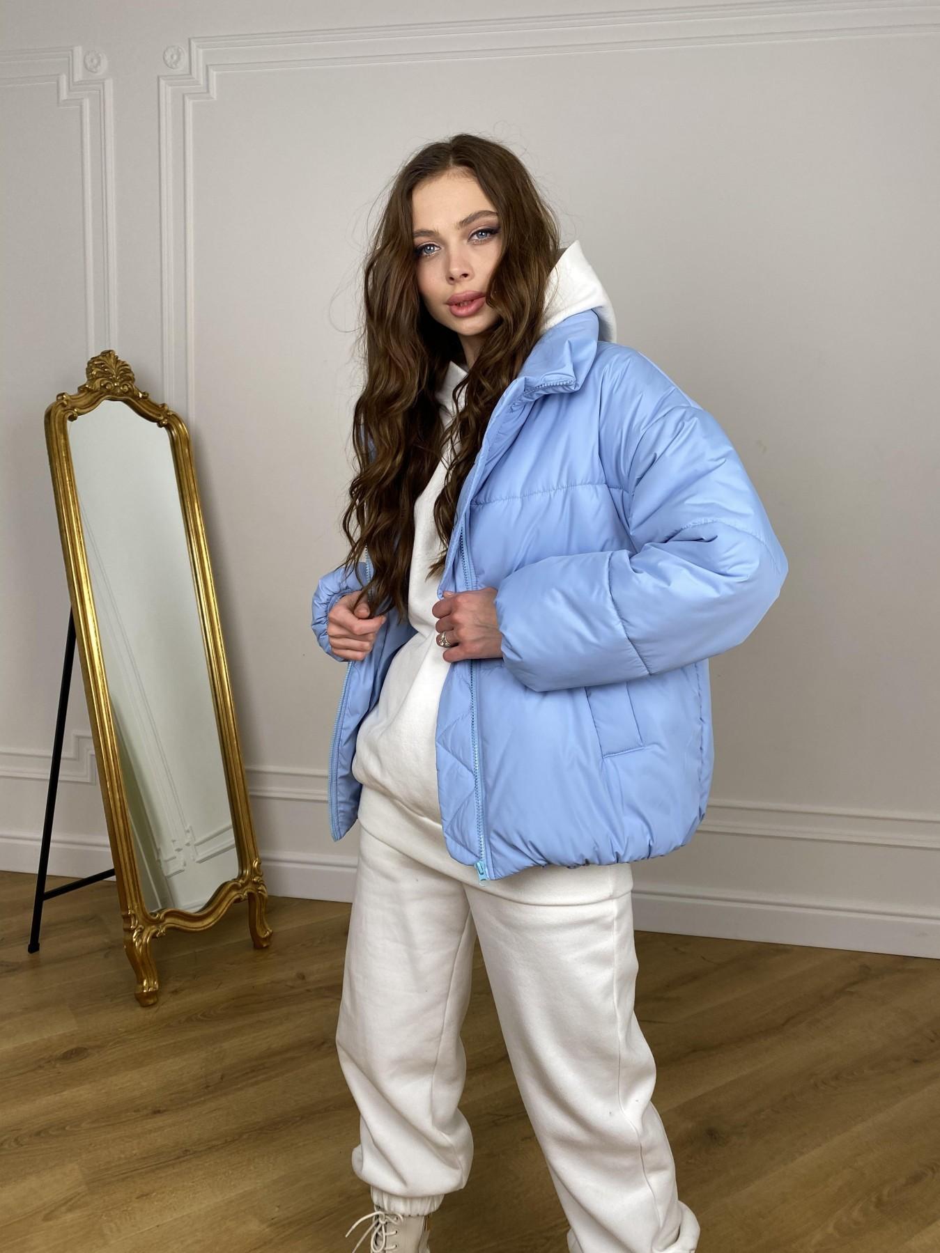Муд куртка из плащевой ткани 10509 АРТ. 46916 Цвет: Голубой - фото 3, интернет магазин tm-modus.ru