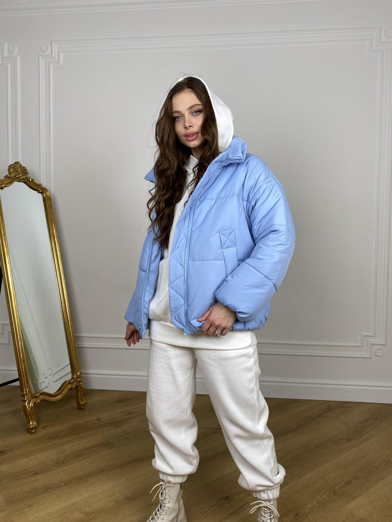 Муд куртка из плащевой ткани 10509 АРТ. 46916 Цвет: Голубой - фото 4, интернет магазин tm-modus.ru