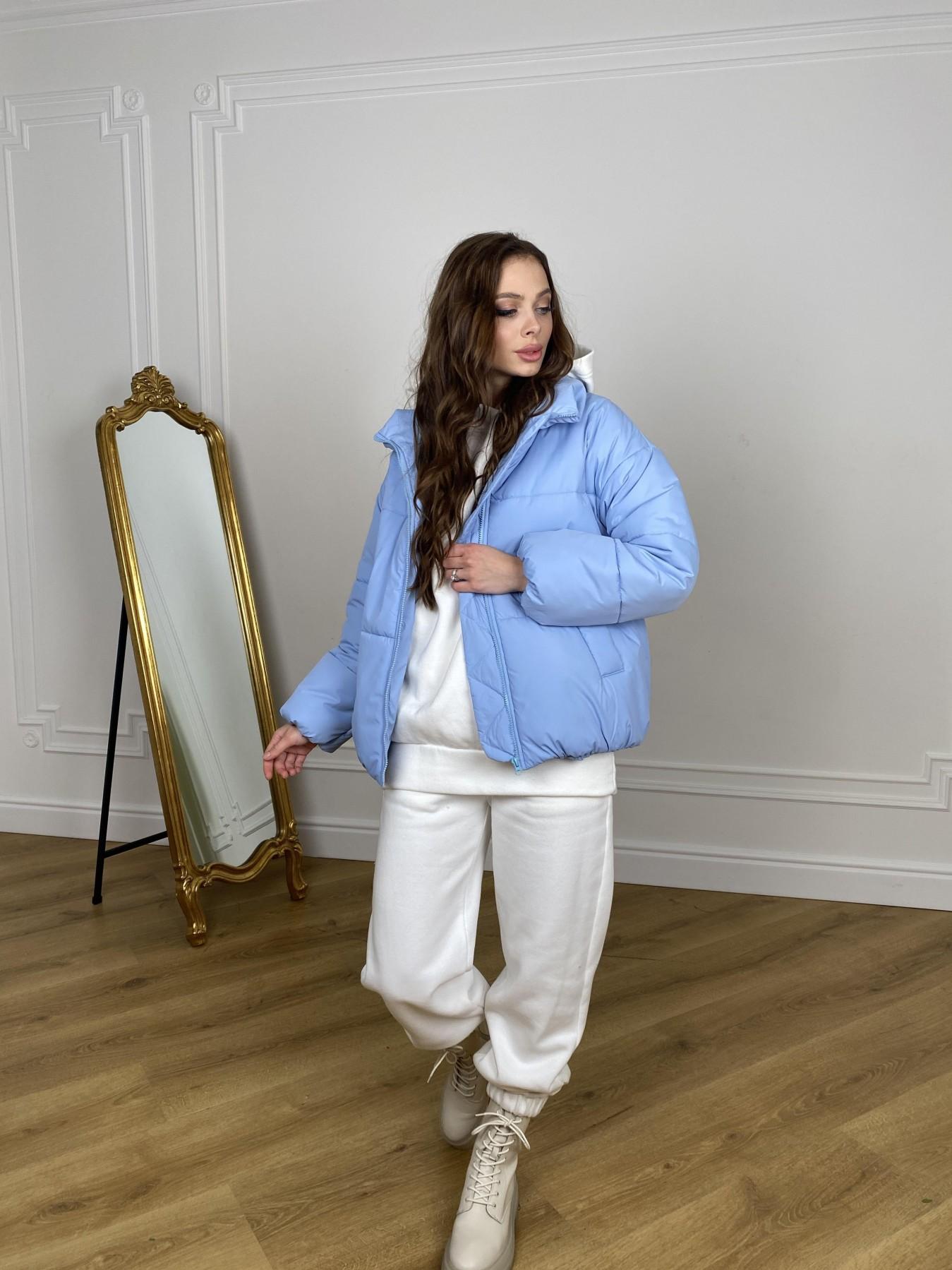 Муд куртка из плащевой ткани 10509 АРТ. 46916 Цвет: Голубой - фото 5, интернет магазин tm-modus.ru