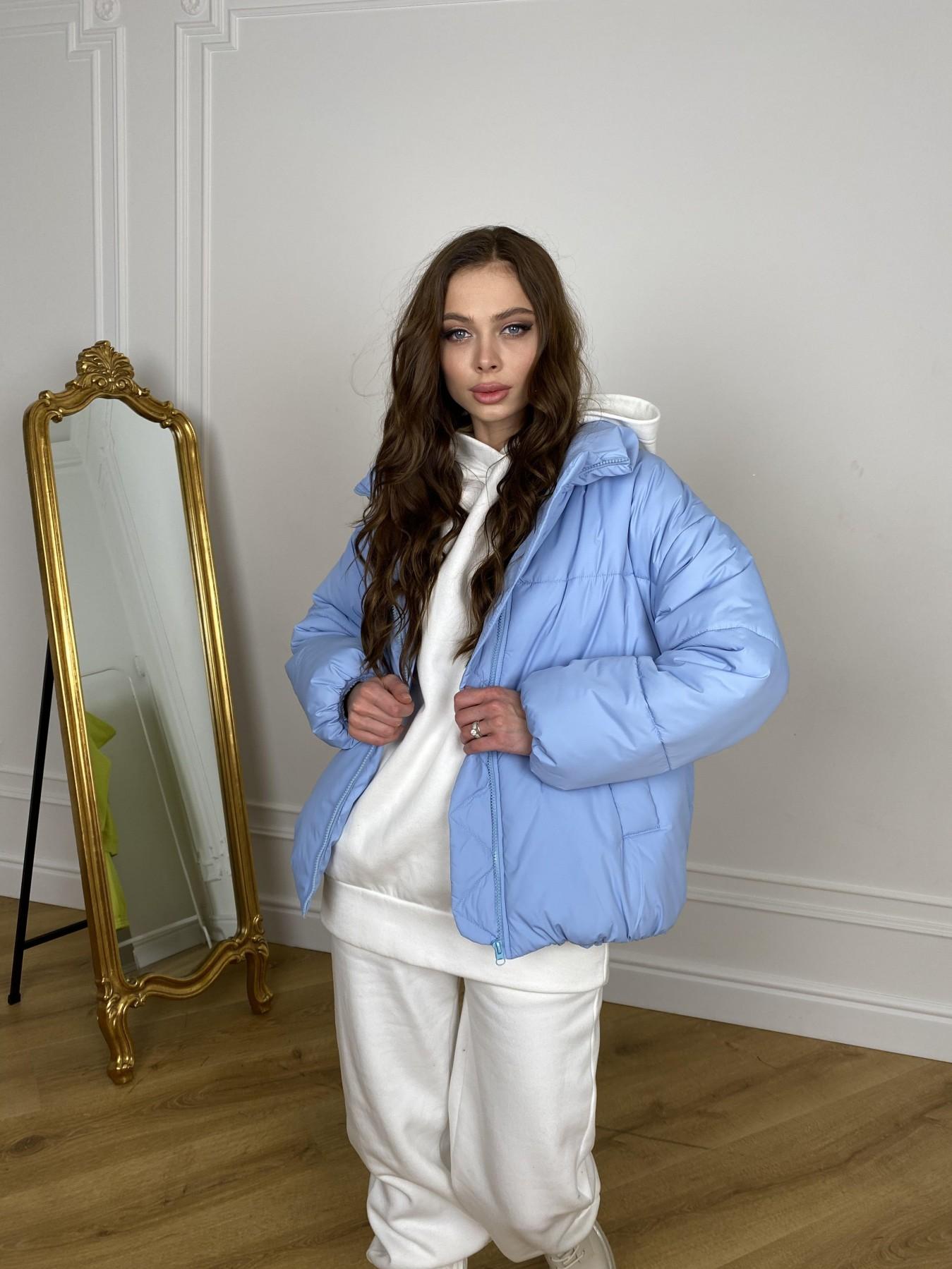 Муд куртка из плащевой ткани 10509 АРТ. 46916 Цвет: Голубой - фото 6, интернет магазин tm-modus.ru