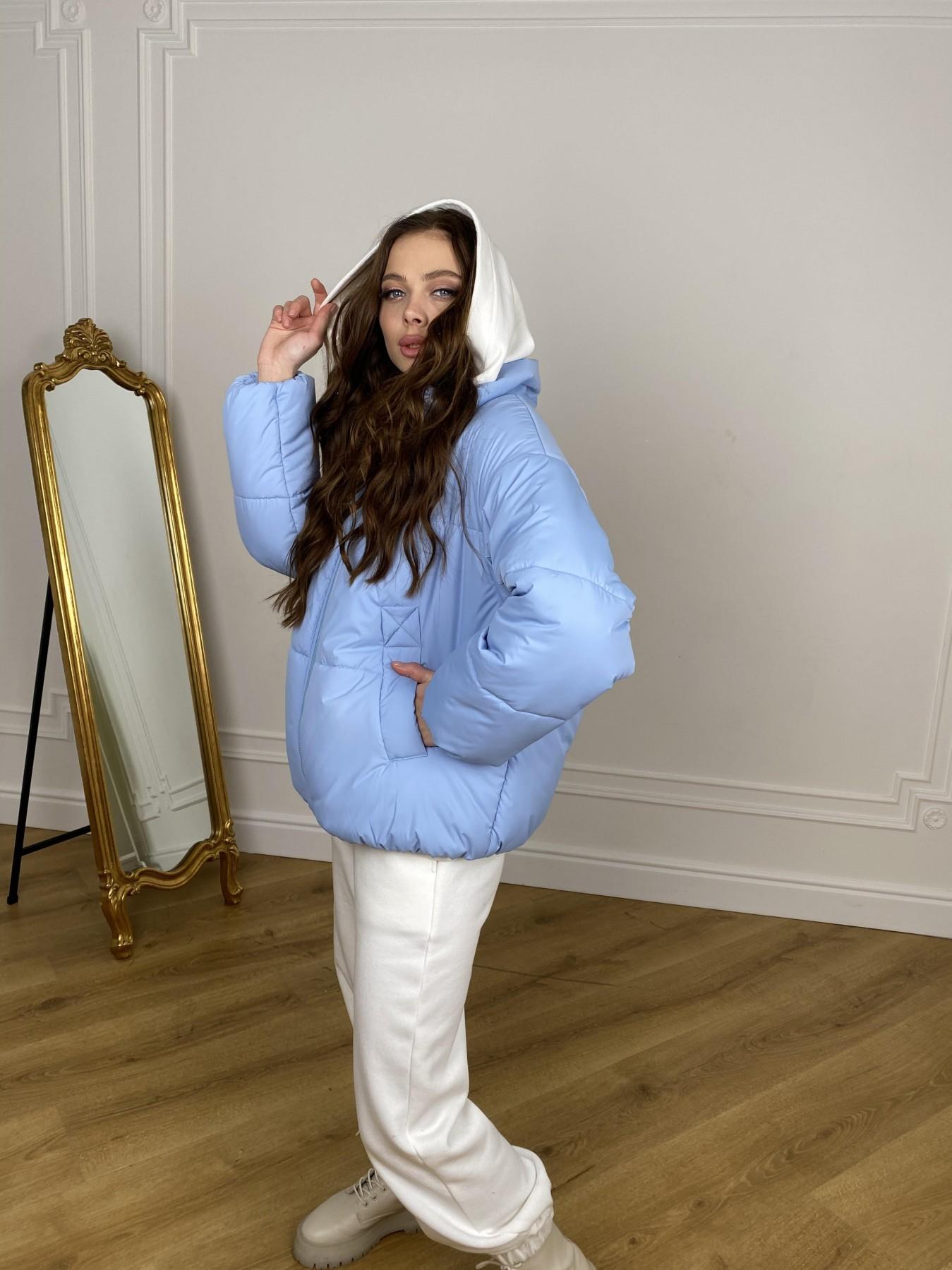 Муд куртка из плащевой ткани 10509 АРТ. 46916 Цвет: Голубой - фото 7, интернет магазин tm-modus.ru