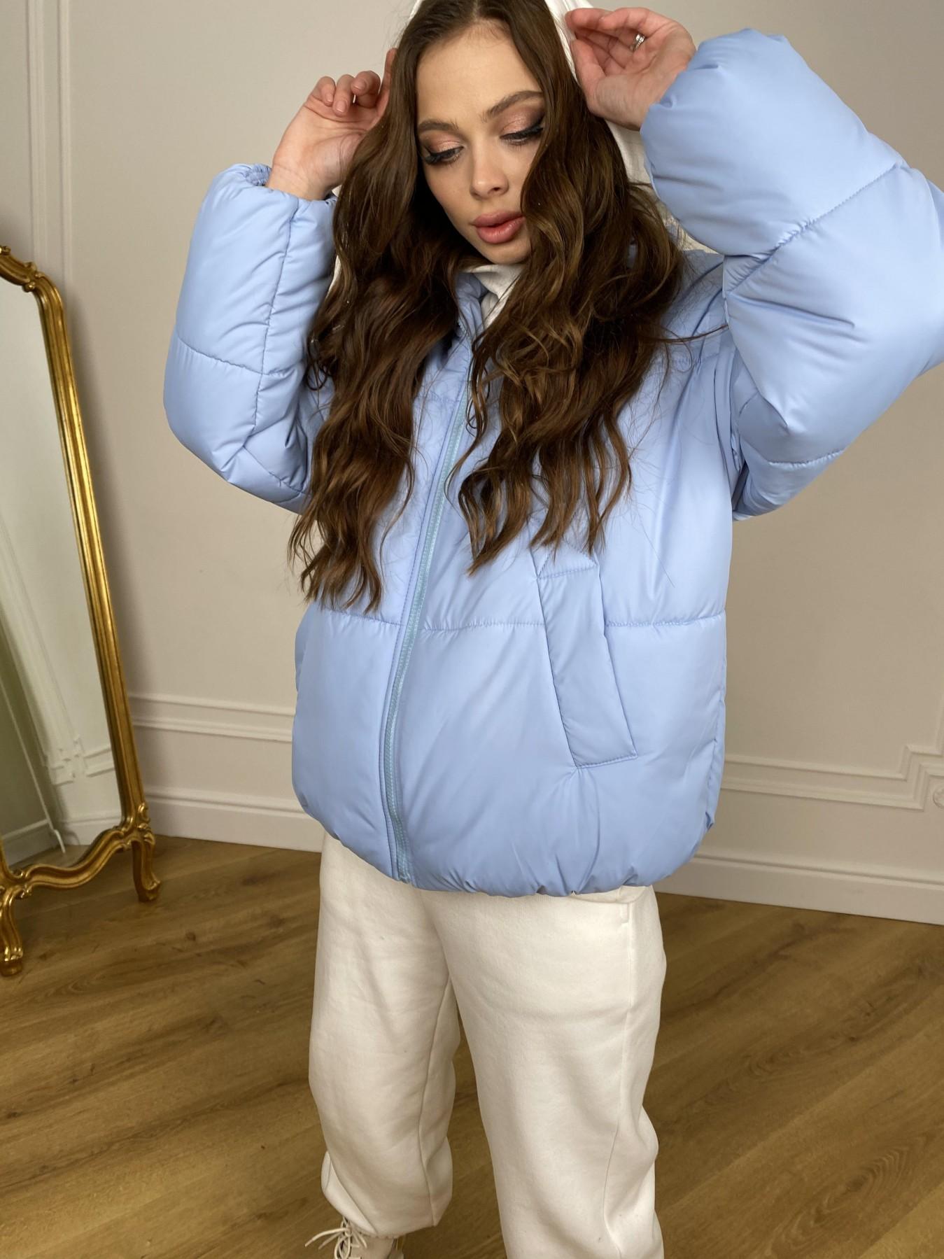 Муд куртка из плащевой ткани 10509 АРТ. 46916 Цвет: Голубой - фото 8, интернет магазин tm-modus.ru