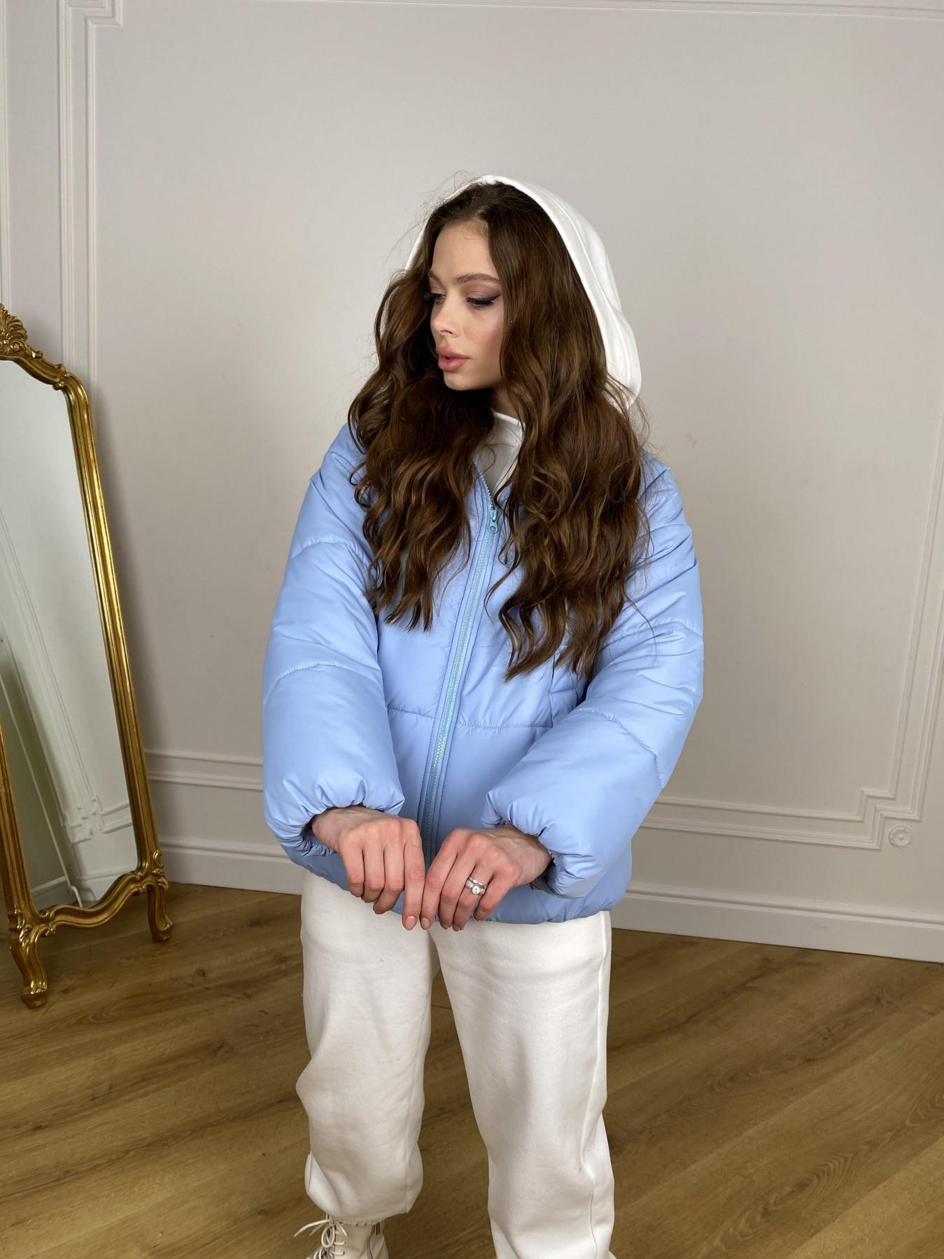 Муд куртка из плащевой ткани 10509 АРТ. 46916 Цвет: Голубой - фото 9, интернет магазин tm-modus.ru