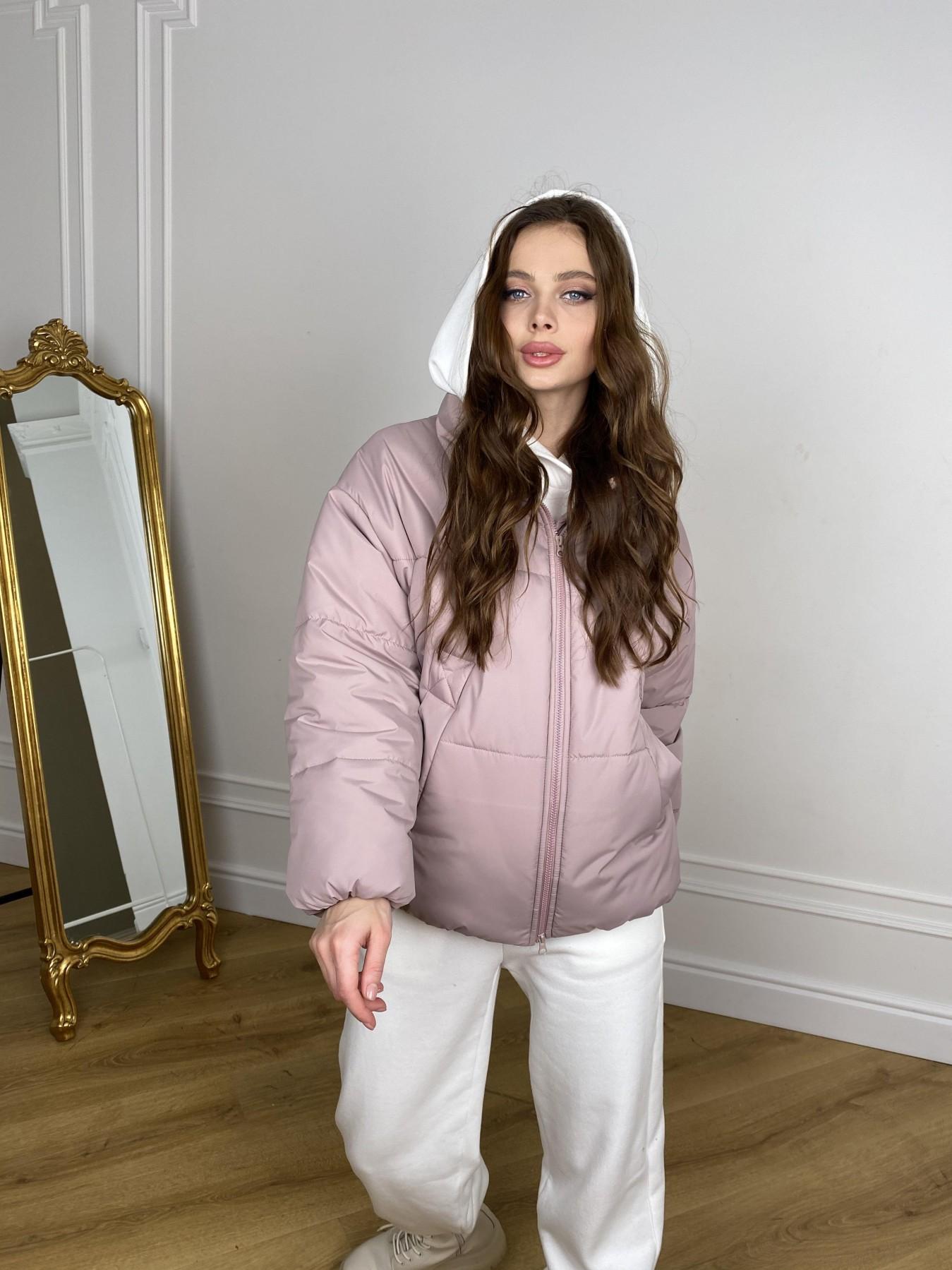 Муд куртка из плащевой ткани 10509 АРТ. 46917 Цвет: Пудра - фото 2, интернет магазин tm-modus.ru