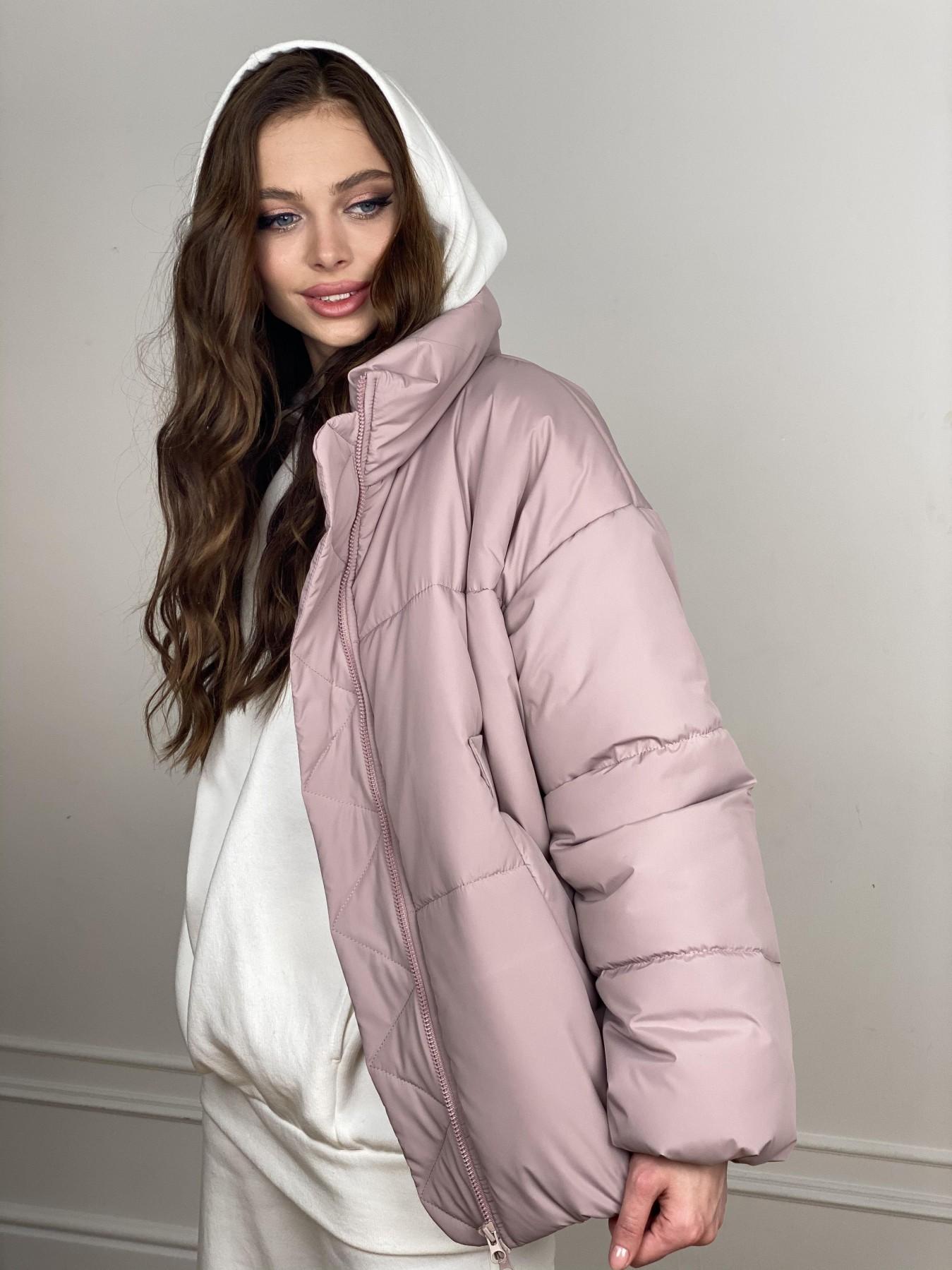 Муд куртка из плащевой ткани 10509 АРТ. 46917 Цвет: Пудра - фото 3, интернет магазин tm-modus.ru