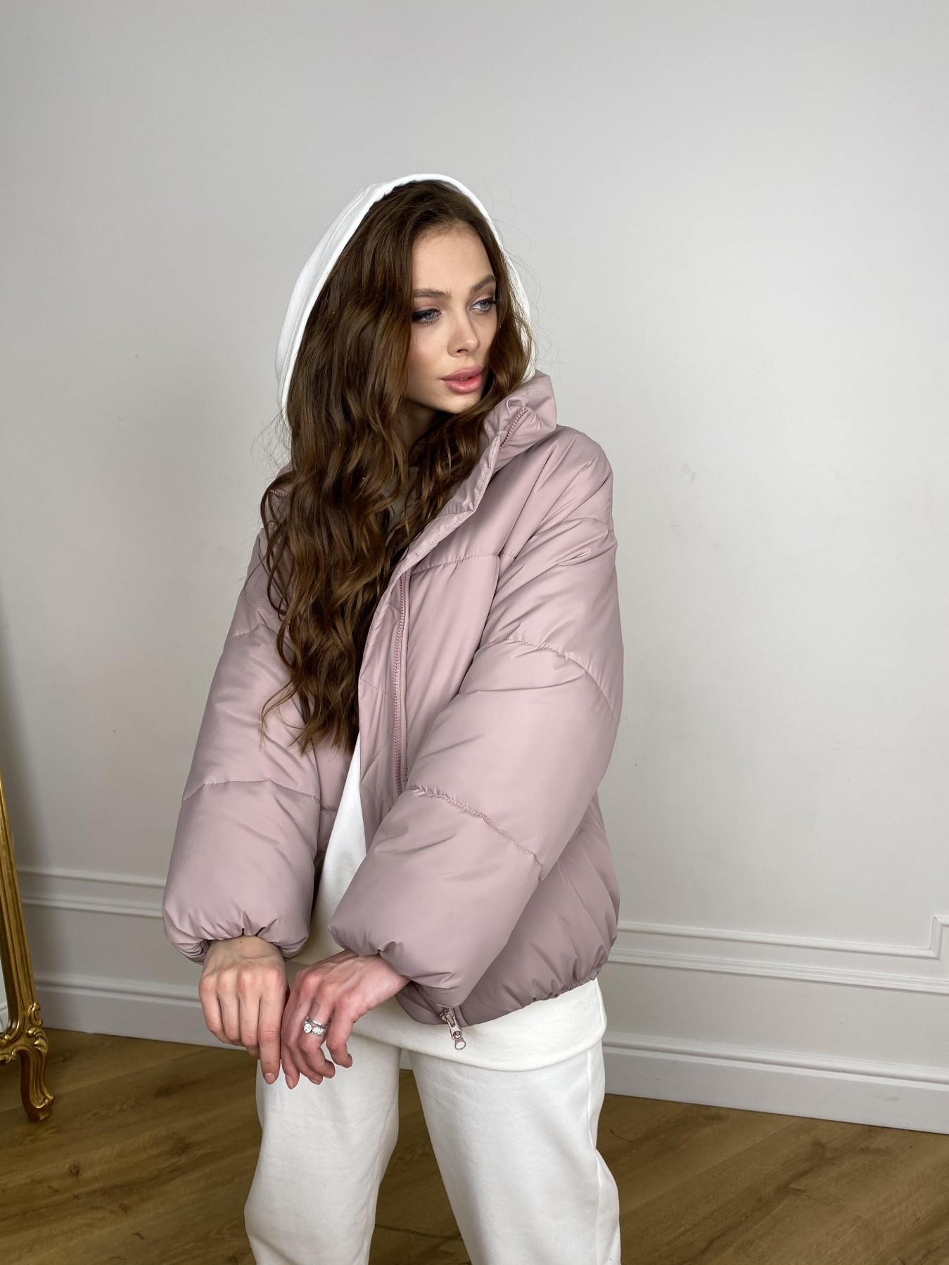 Муд куртка из плащевой ткани 10509 АРТ. 46917 Цвет: Пудра - фото 4, интернет магазин tm-modus.ru