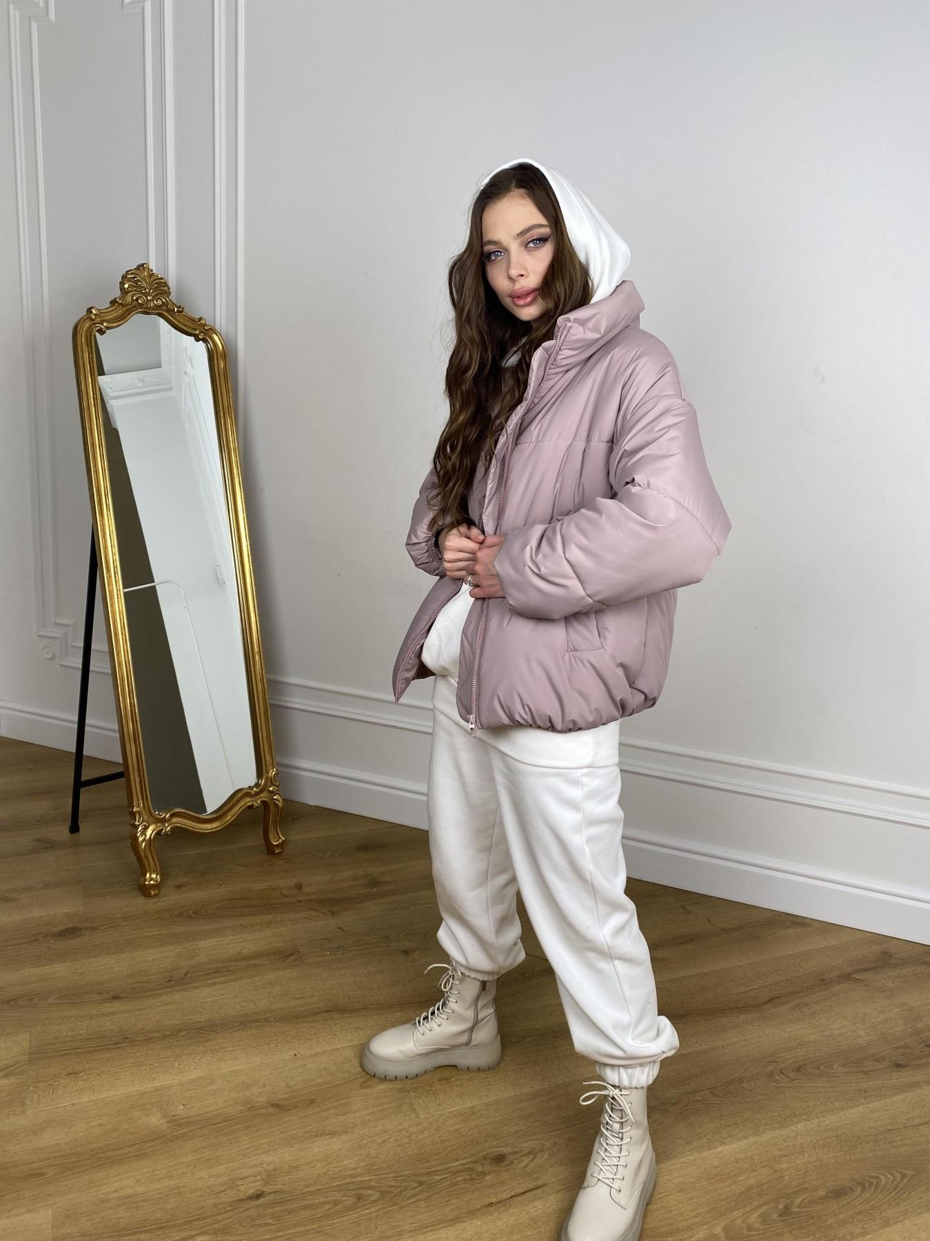 Муд куртка из плащевой ткани 10509 АРТ. 46917 Цвет: Пудра - фото 6, интернет магазин tm-modus.ru