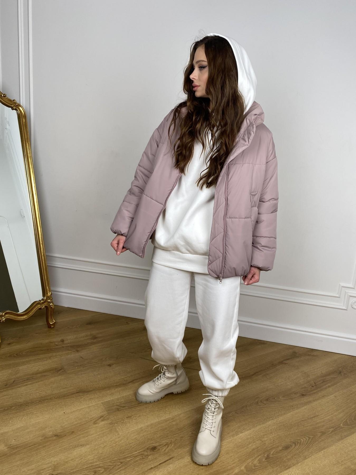 Муд куртка из плащевой ткани 10509 АРТ. 46917 Цвет: Пудра - фото 7, интернет магазин tm-modus.ru