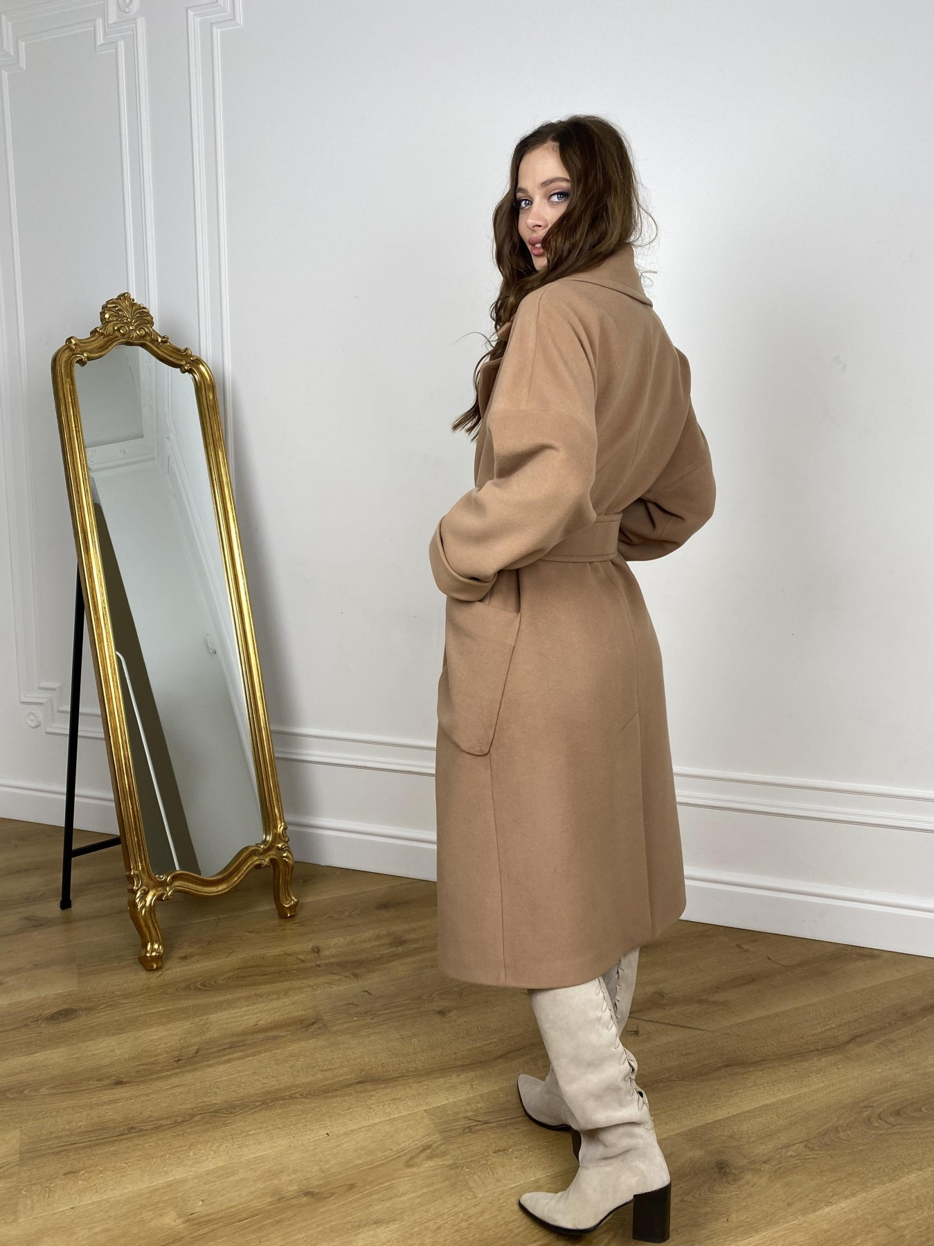 Кейт  пальто из кашемира 10539 АРТ. 46894 Цвет: Кемел - фото 7, интернет магазин tm-modus.ru