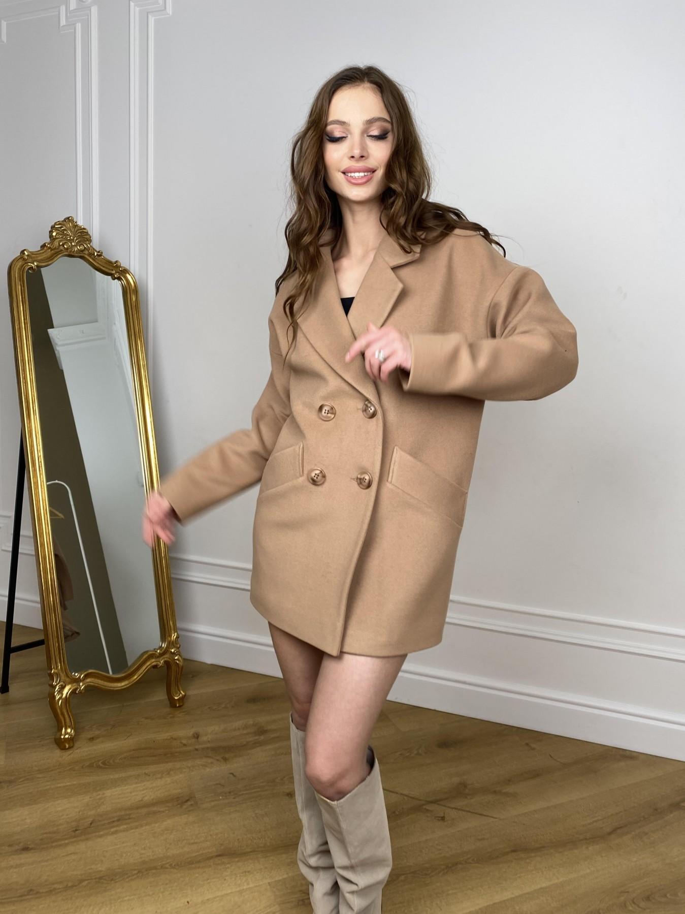 Бонд пальто из кашемира  10571 АРТ. 46927 Цвет: Кемел - фото 3, интернет магазин tm-modus.ru
