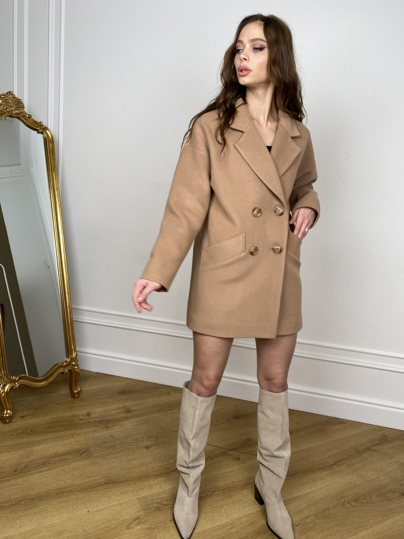 Бонд пальто из кашемира  10571 АРТ. 46927 Цвет: Кемел - фото 5, интернет магазин tm-modus.ru