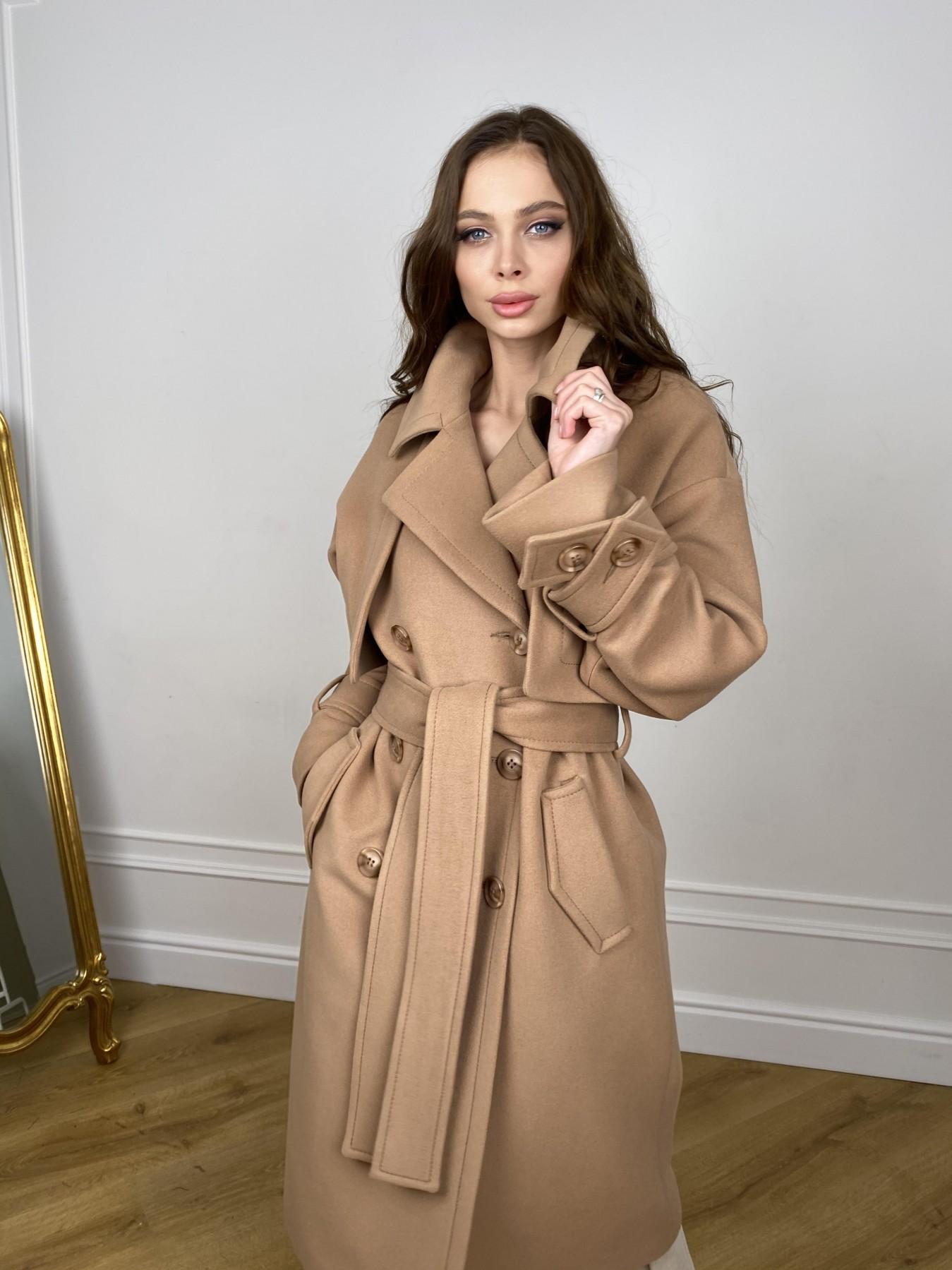 Твин макси пальто демисезонное кашемир 10543 АРТ. 46896 Цвет: Кемел - фото 6, интернет магазин tm-modus.ru