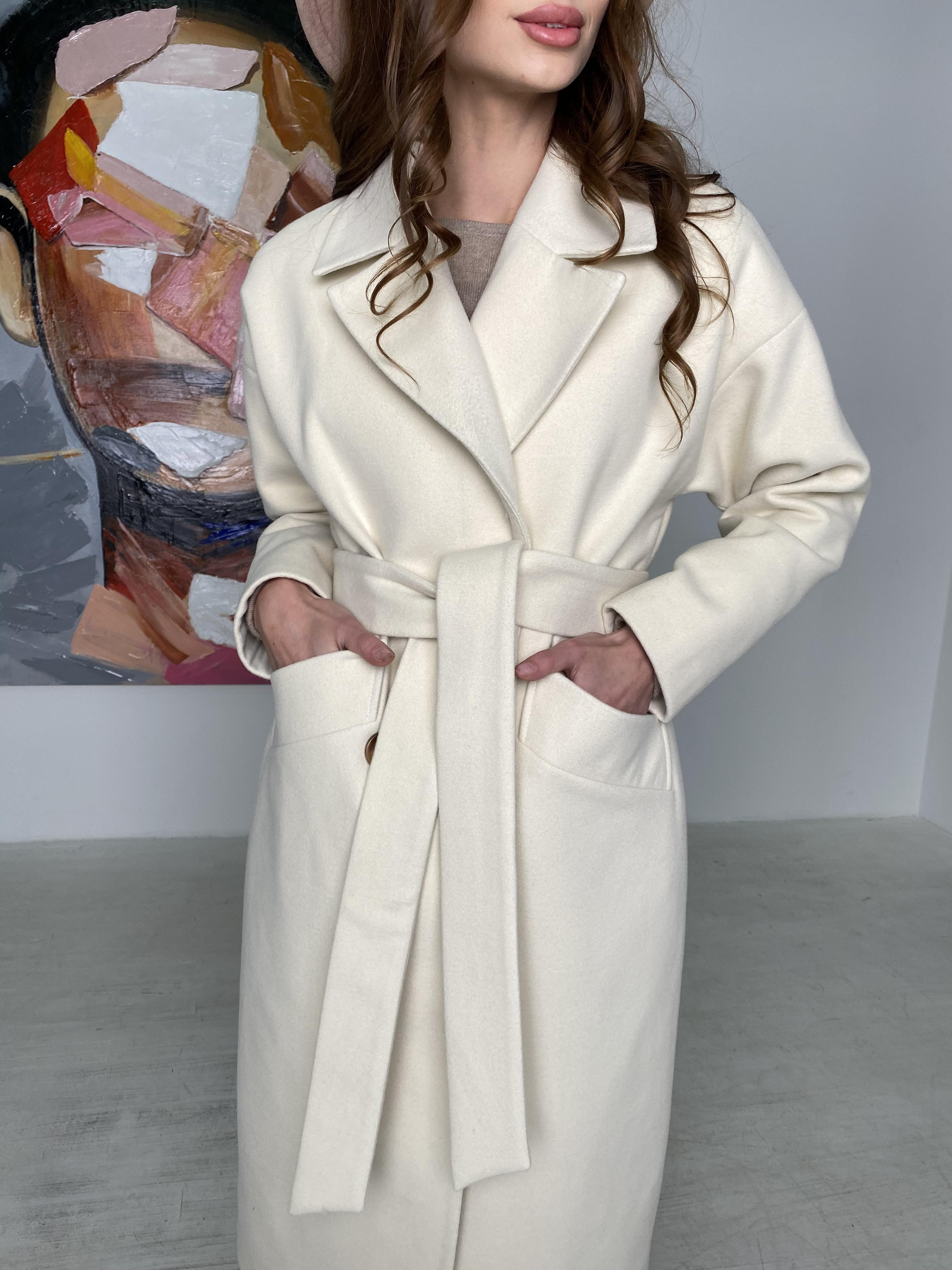 Сенсей пальто макси из кашемира   10309 АРТ. 46615 Цвет: молоко - фото 1, интернет магазин tm-modus.ru
