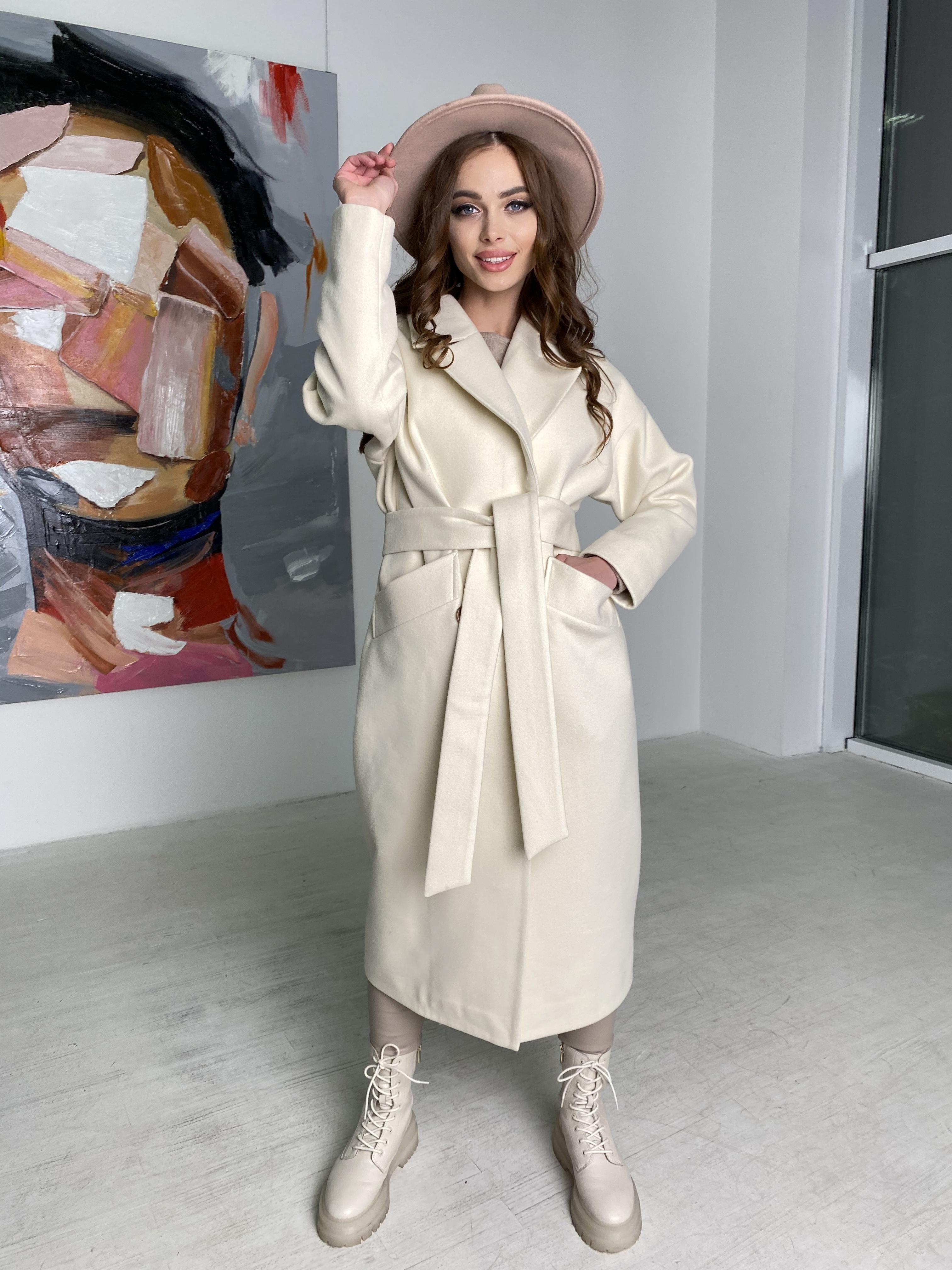 Сенсей пальто макси из кашемира   10309 АРТ. 46615 Цвет: молоко - фото 4, интернет магазин tm-modus.ru