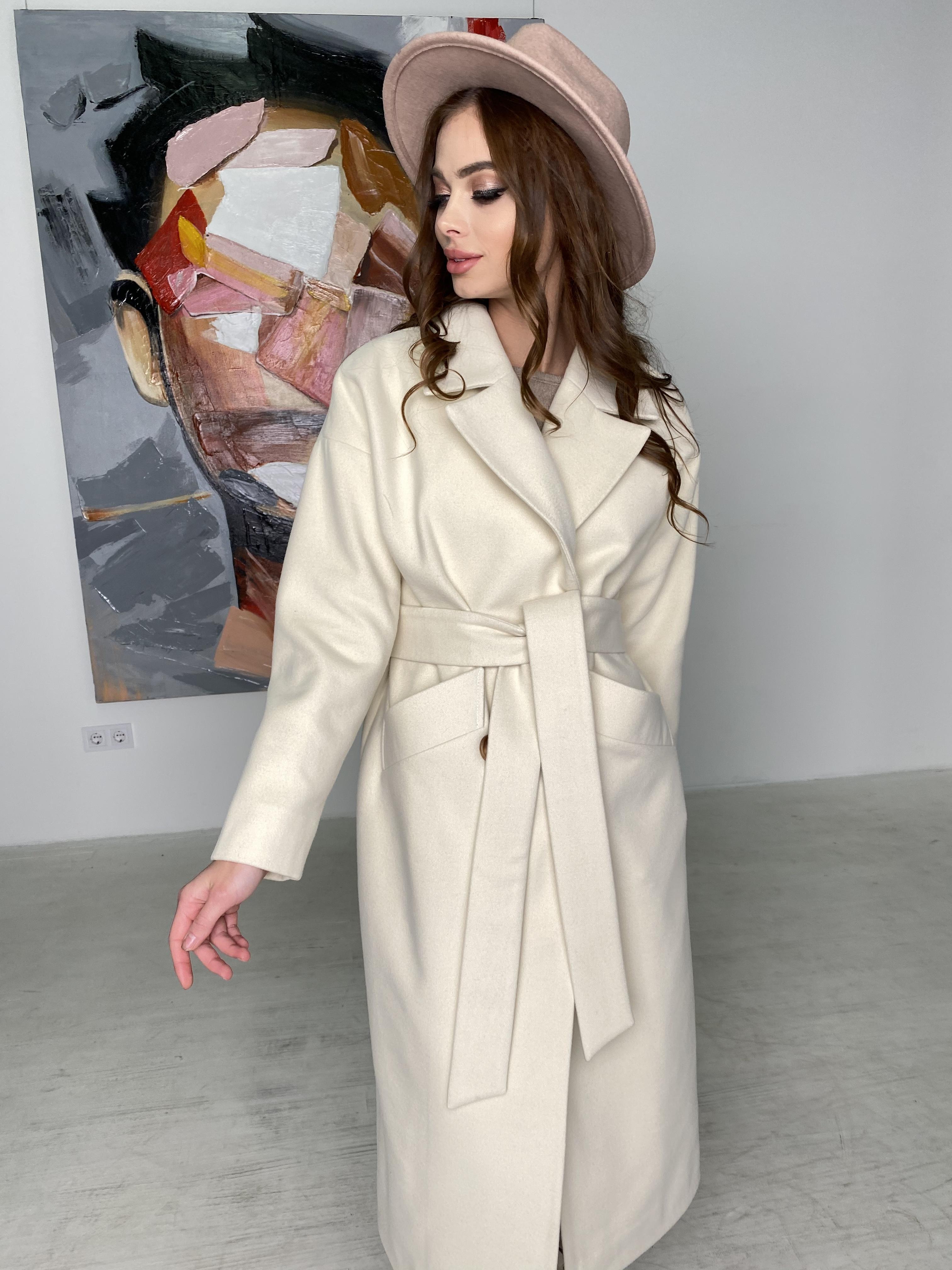 Сенсей пальто макси из кашемира   10309 АРТ. 46615 Цвет: молоко - фото 5, интернет магазин tm-modus.ru
